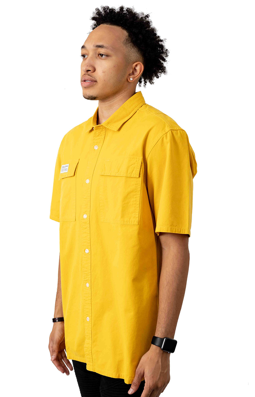 Buy Button-Up Shirt - Yellow  2