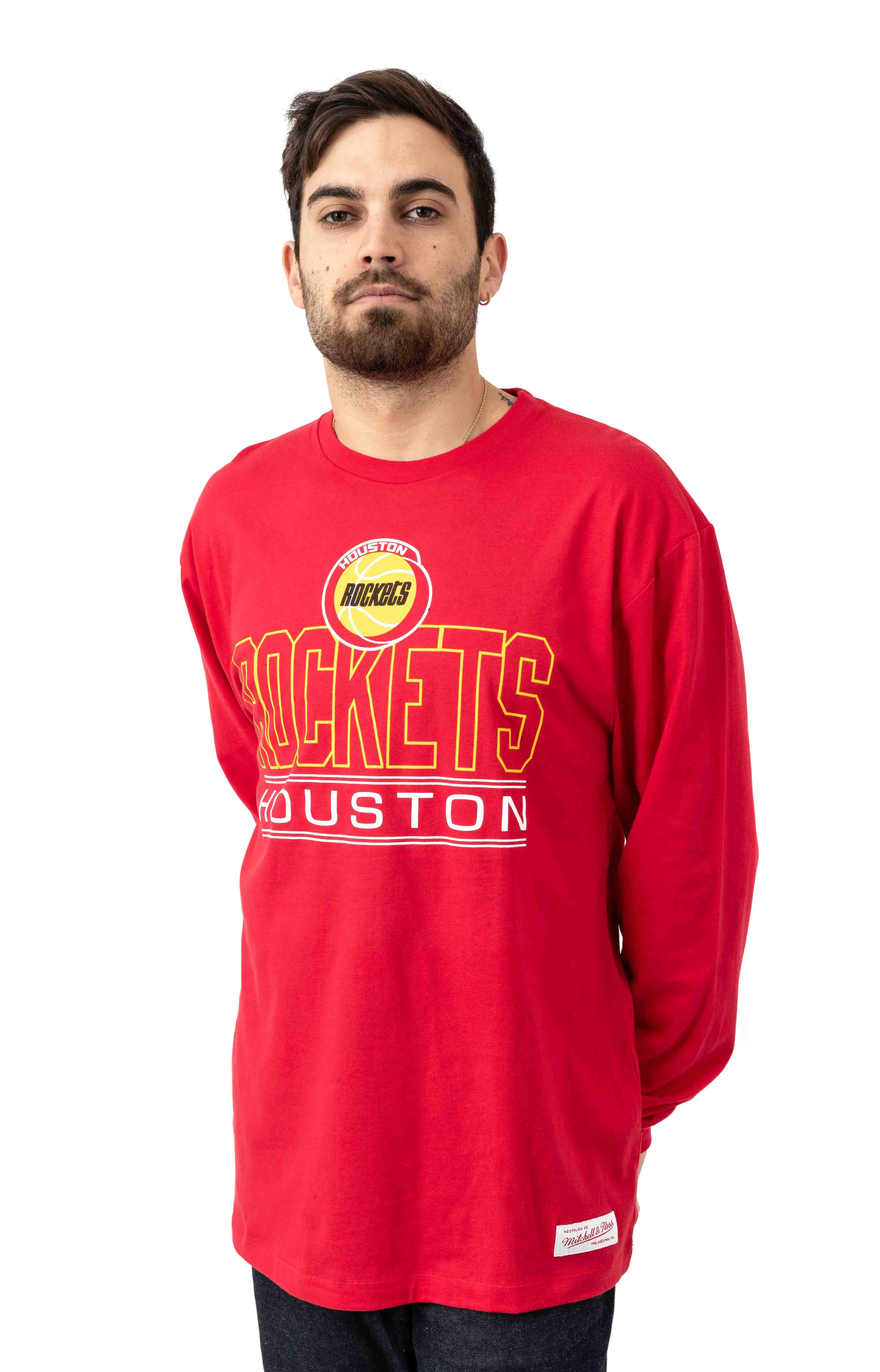 NBA Blocked Shot Fleece L/S Shirt - Rockets