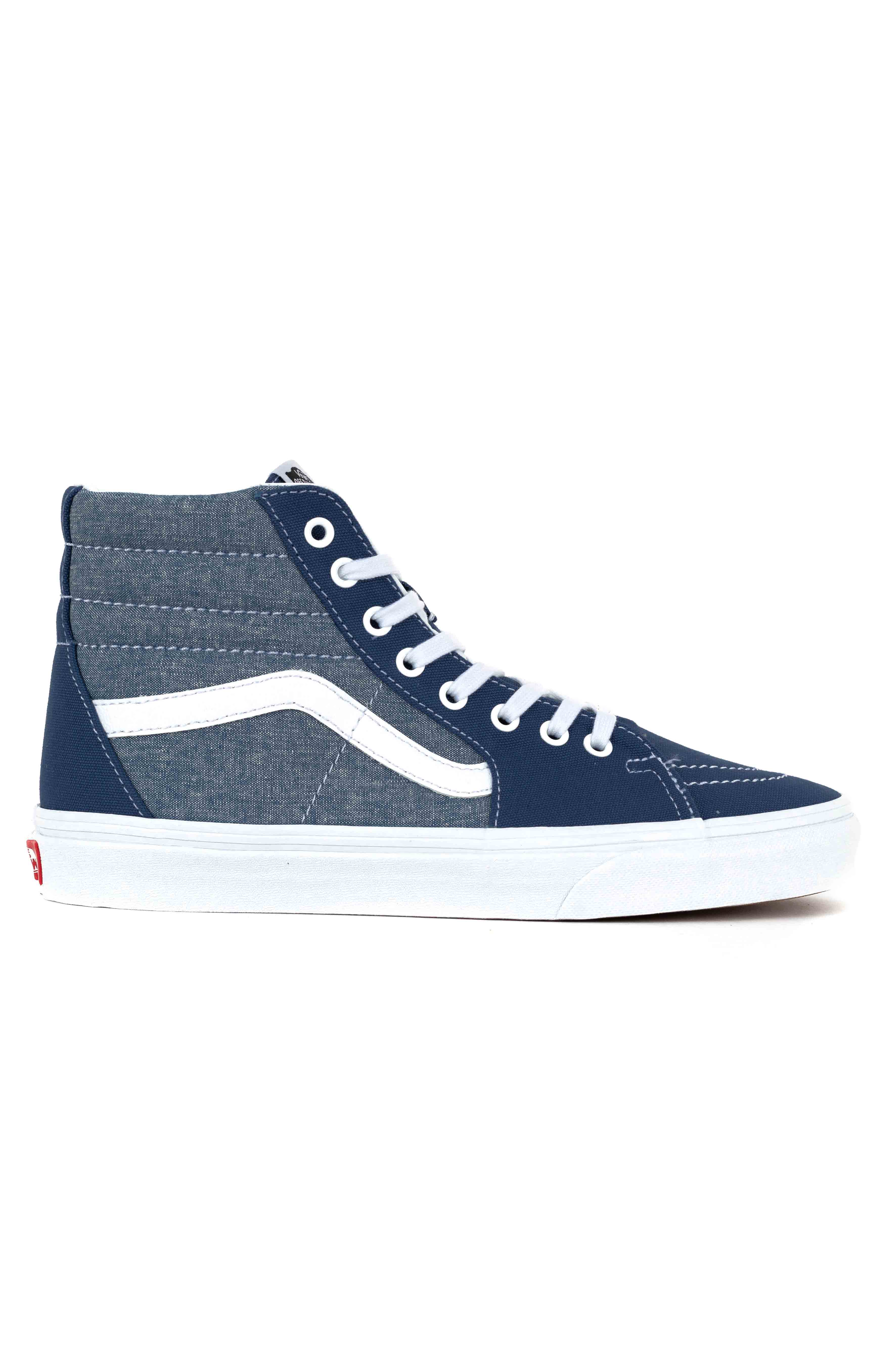 (8GEVIO) Chambray Sk8-Hi Shoe - Canvas True Navy