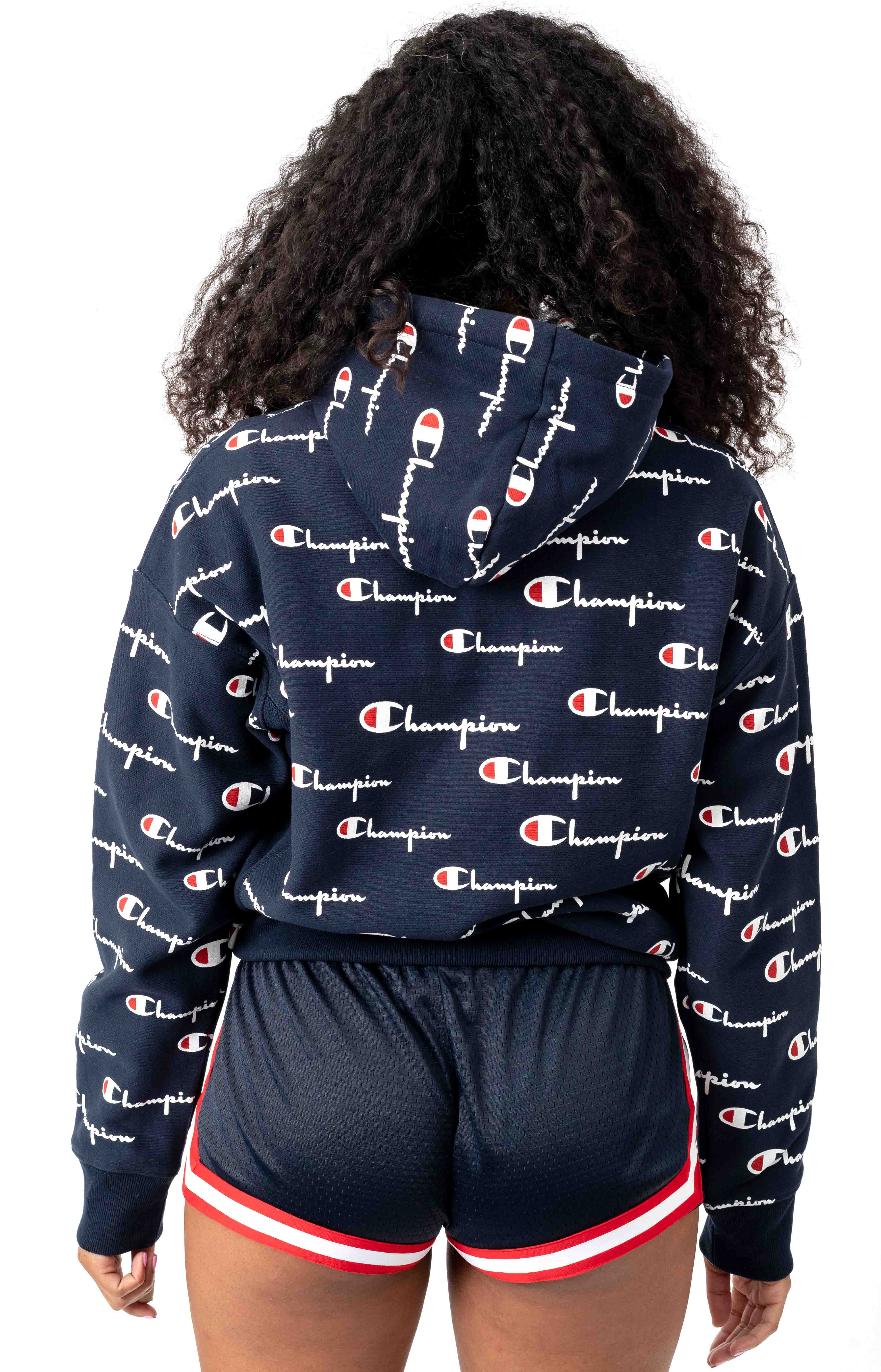 RW All Over Multi Scale Script Pullover Hoodie - Navy 3