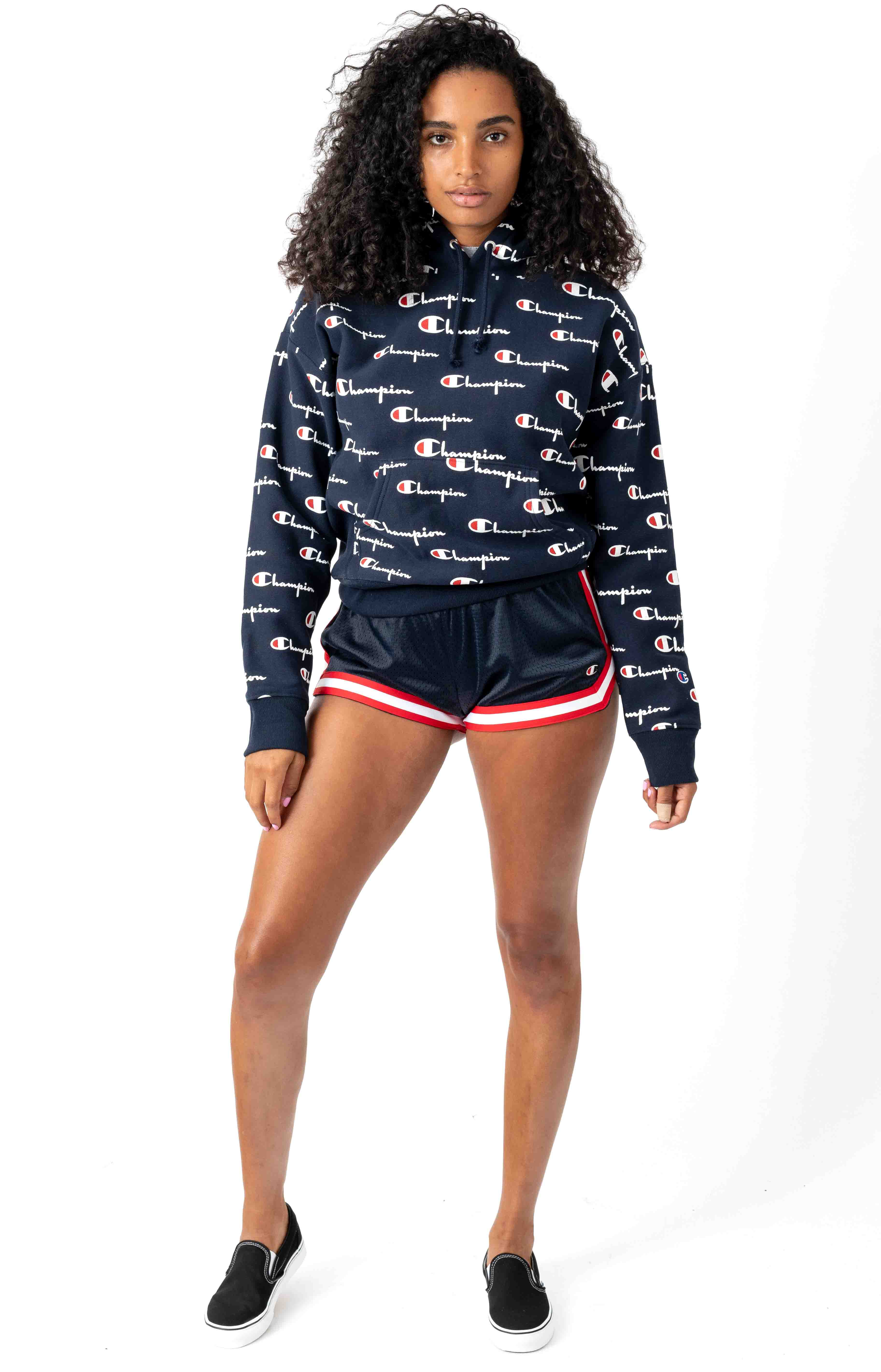 RW All Over Multi Scale Script Pullover Hoodie - Navy 4