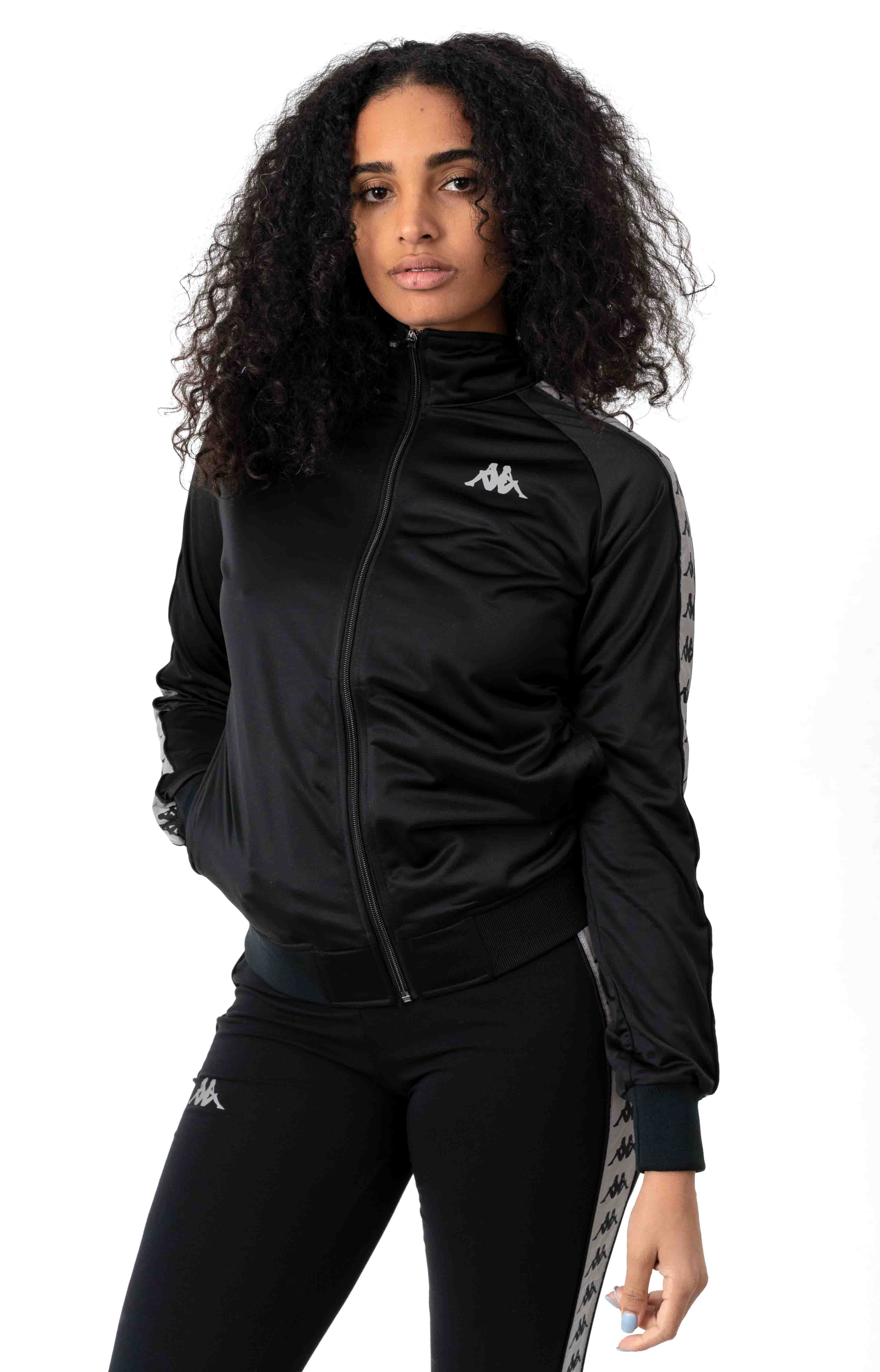 222 Banda Dolly Track Jacket - Black/Reflective