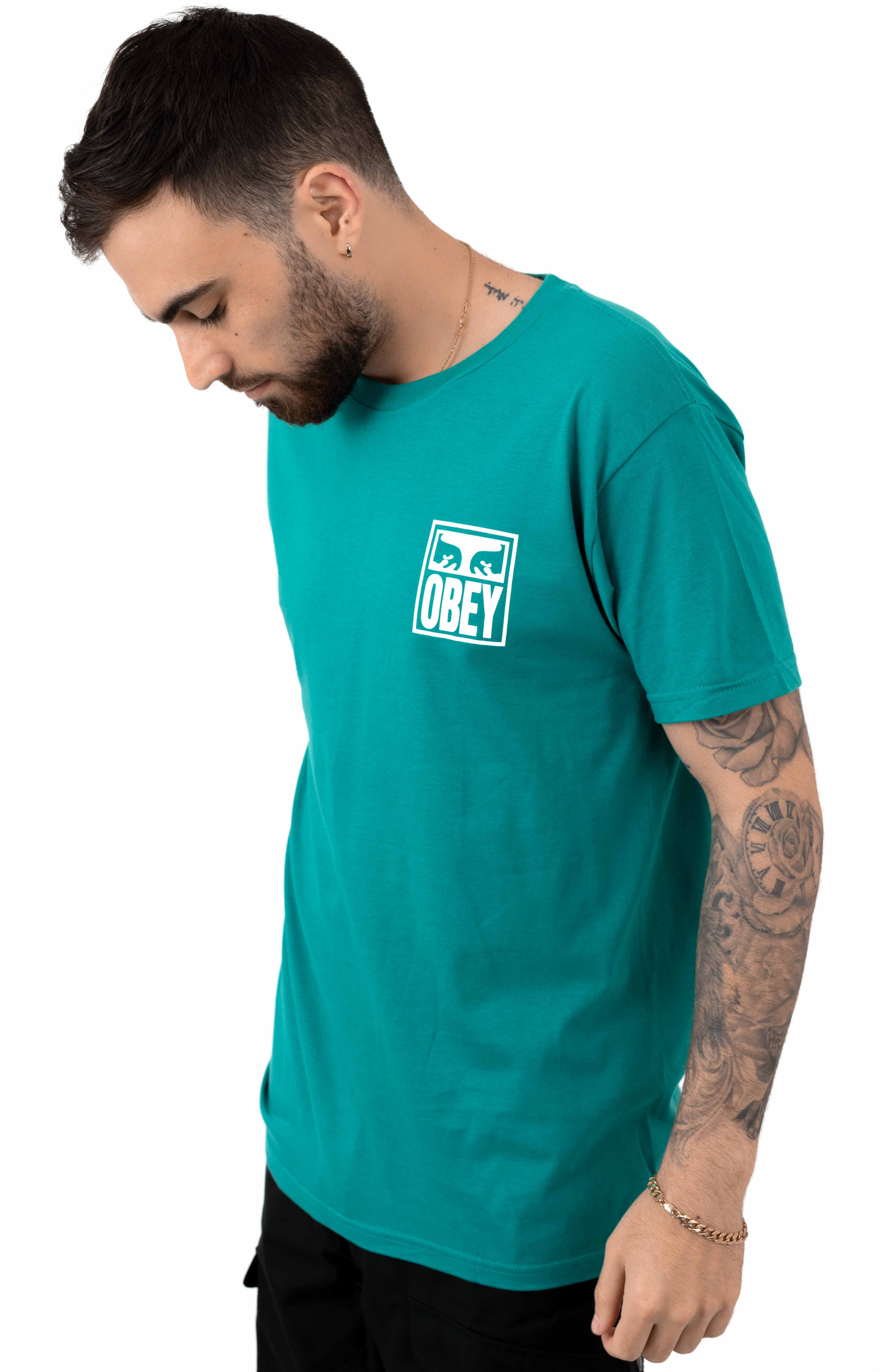 Obey Eyes Icon T-Shirt - Teal 2