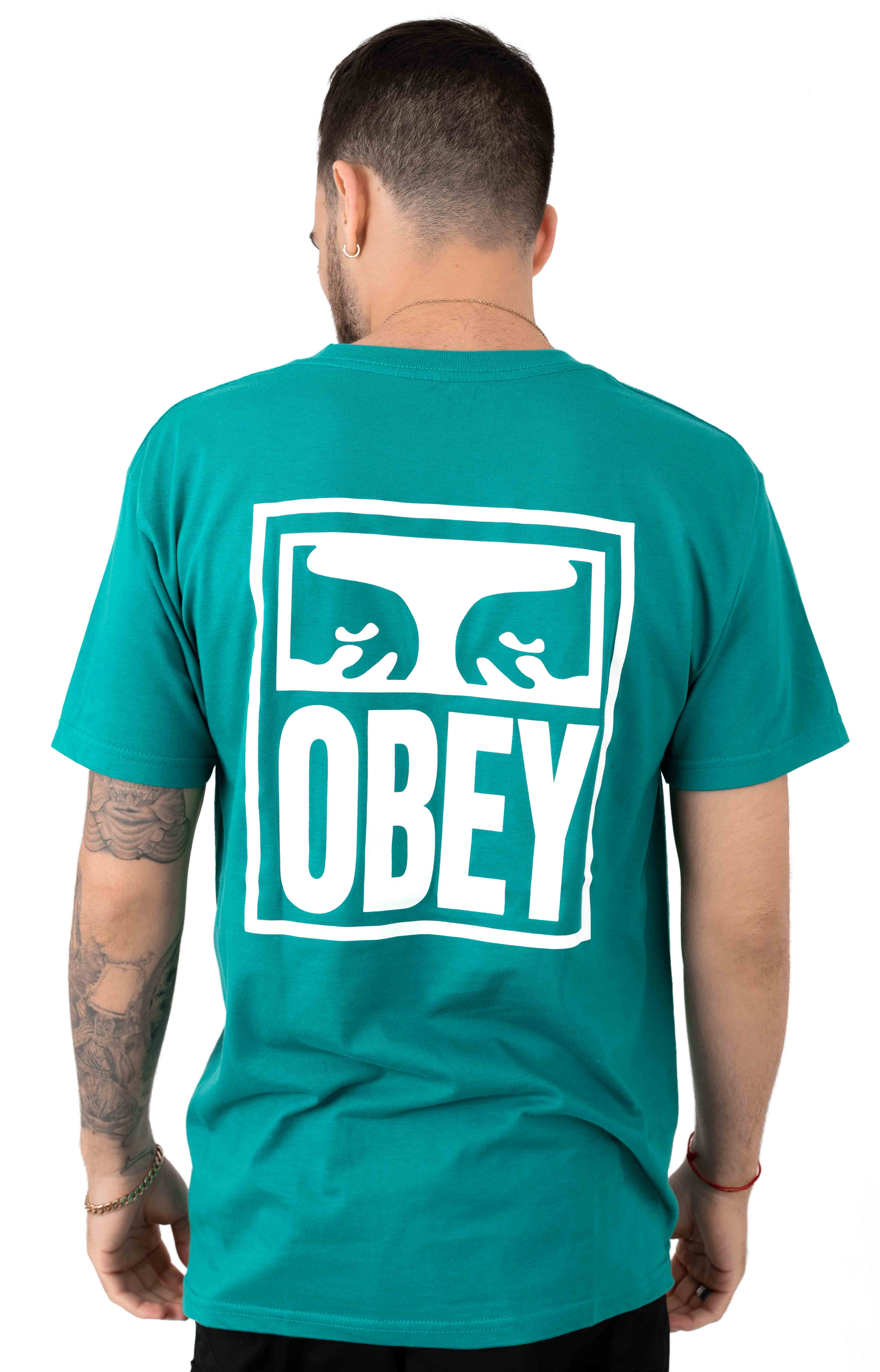 Obey Eyes Icon T-Shirt - Teal 3