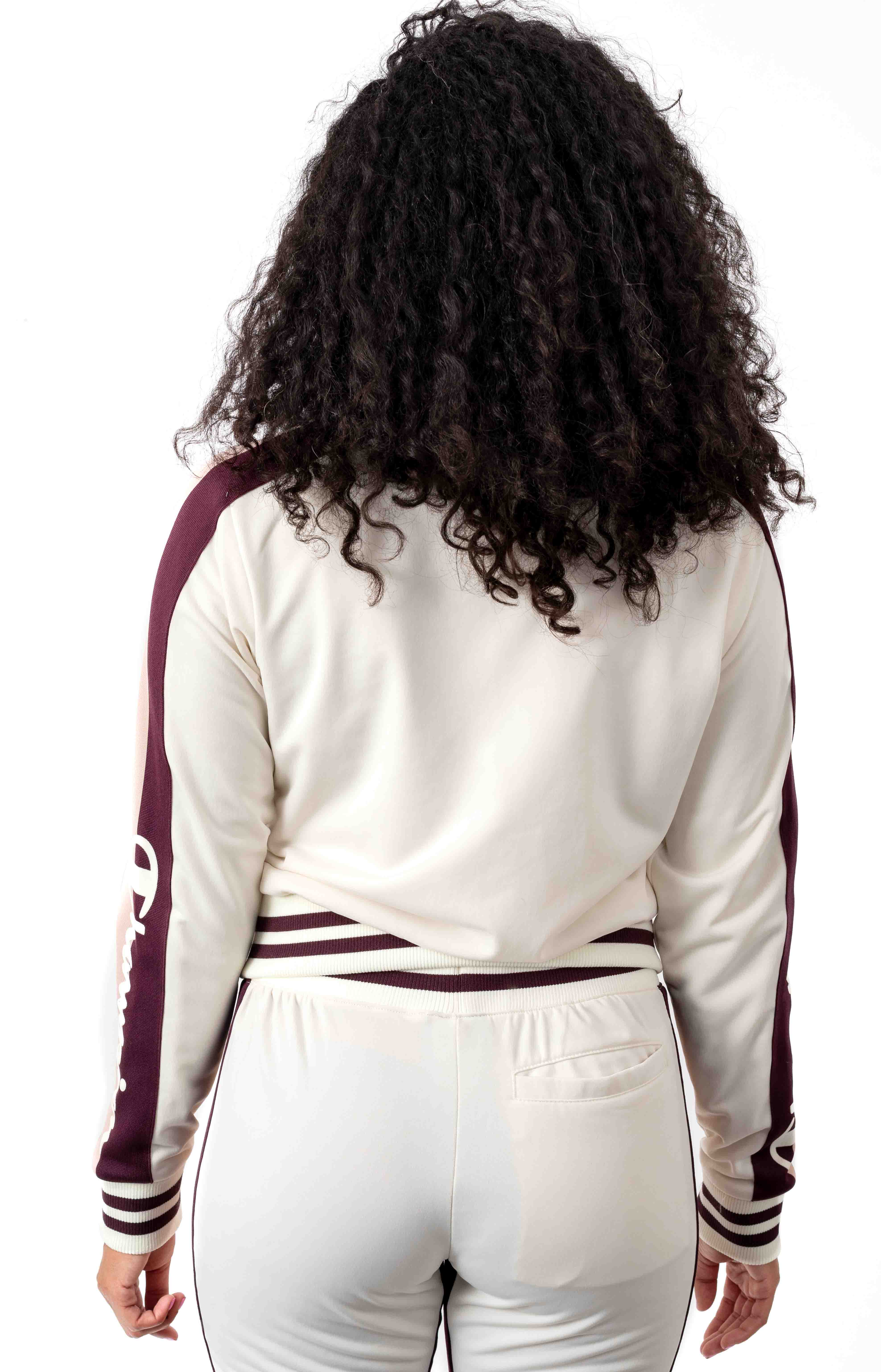 Tricot Track Jacket w/ Champion Taping - Chalk White  3
