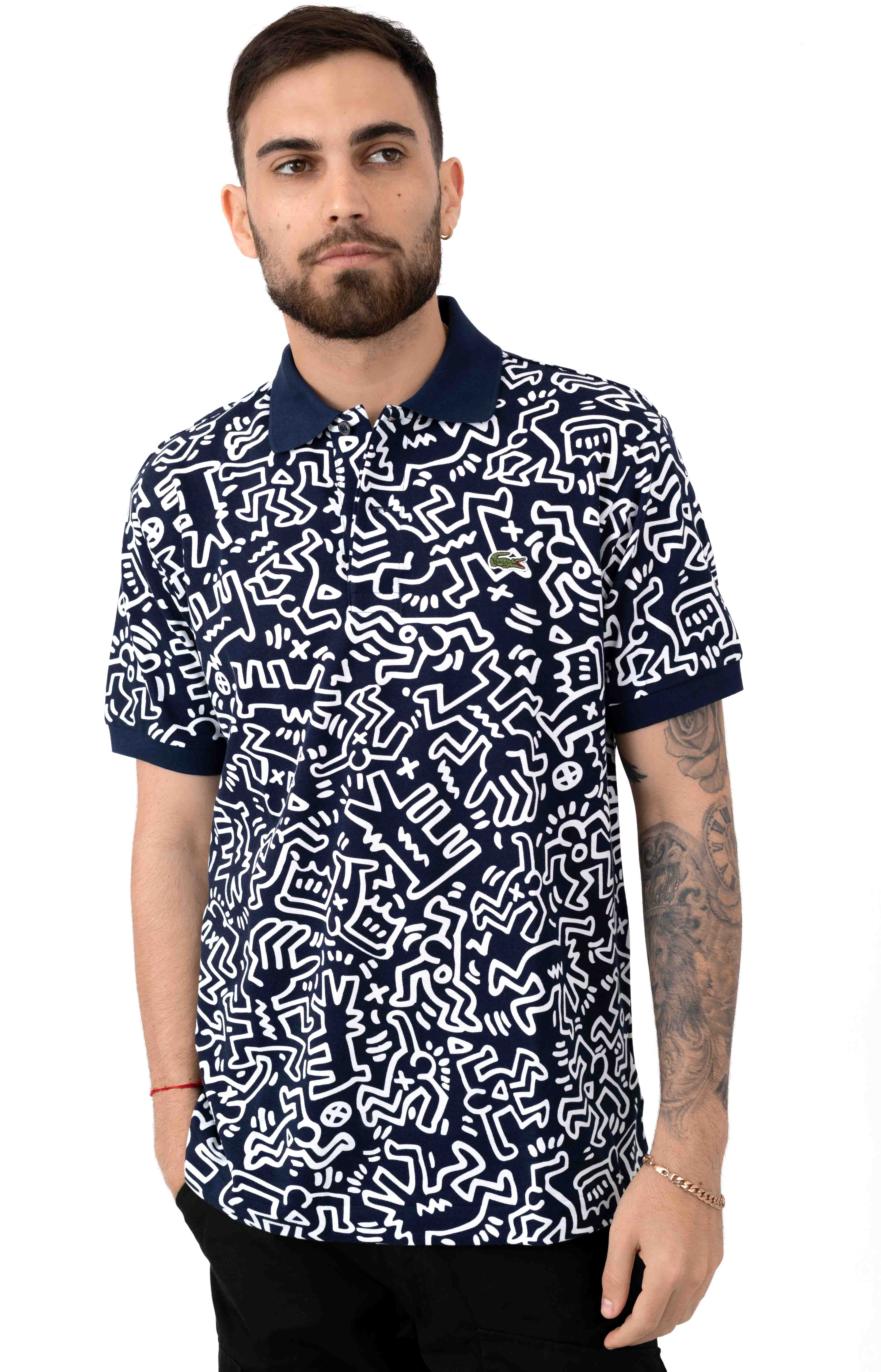 79481a74 Print Prique Polo - Navy/White. Loading... Home · Brands · Lacoste x Keith  Haring ...