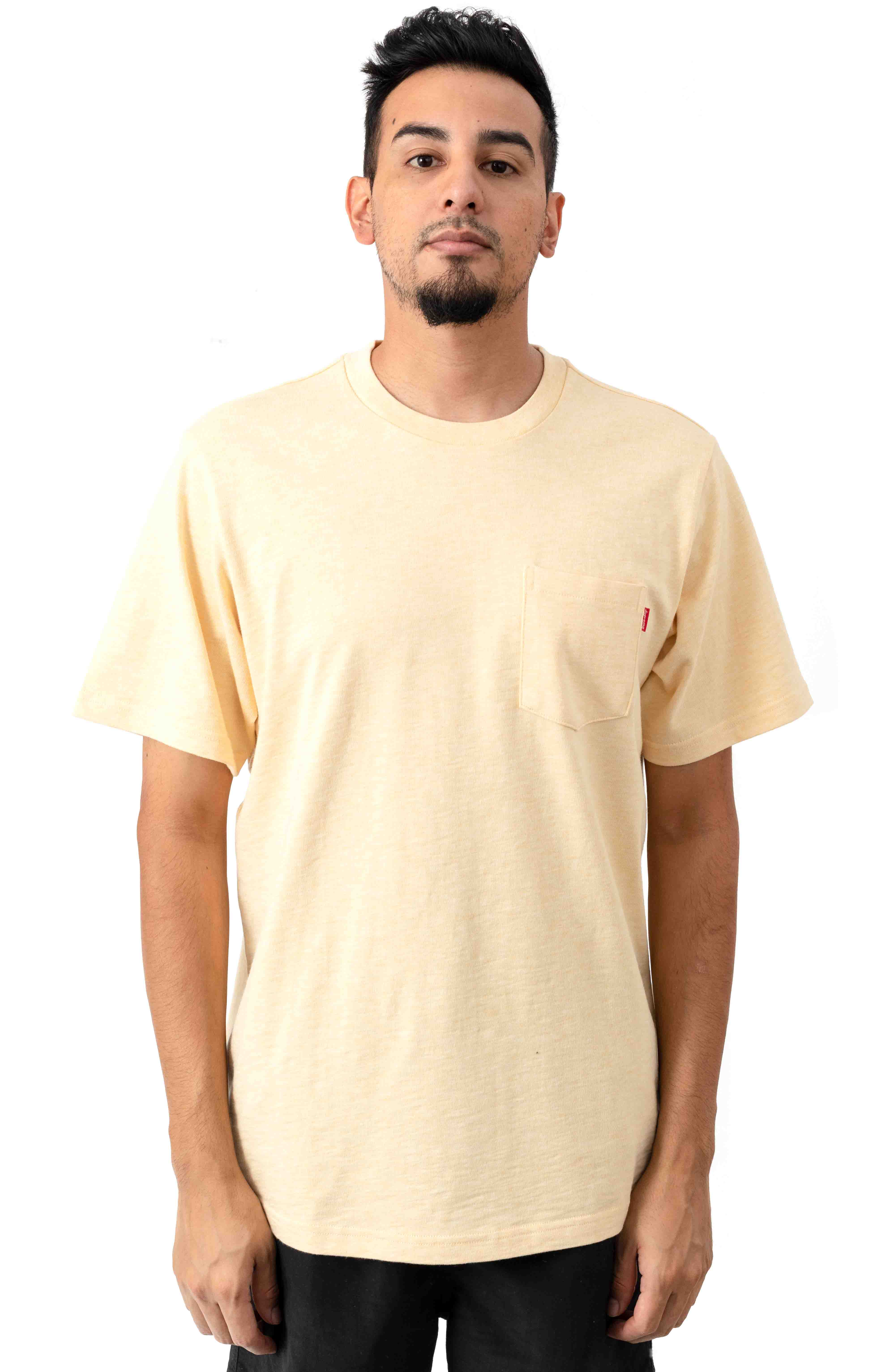 S/S Pocket T-Shirt - Pale Ylellow