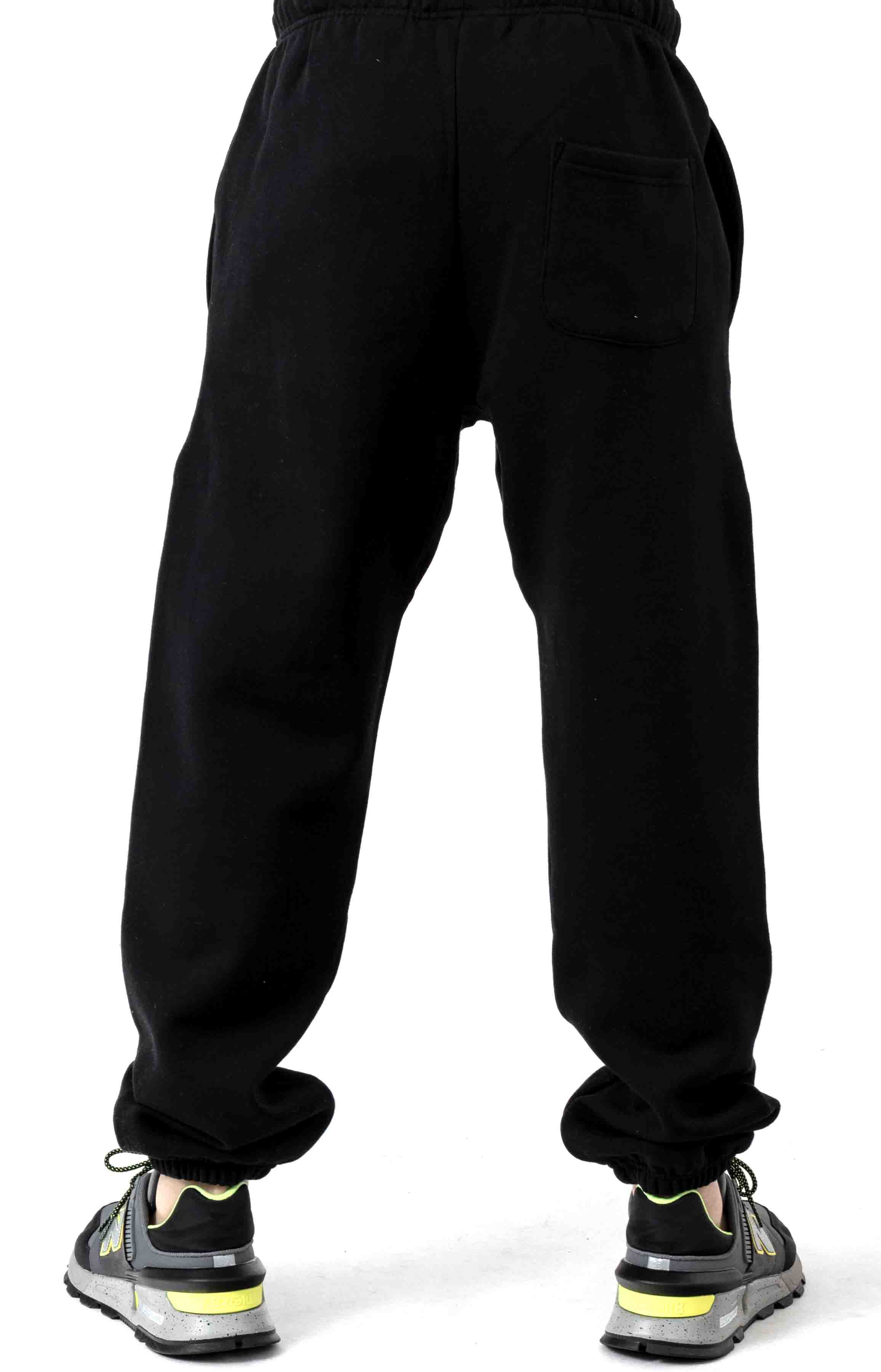 Butterfly Embroidered Sweatpants - Black 3