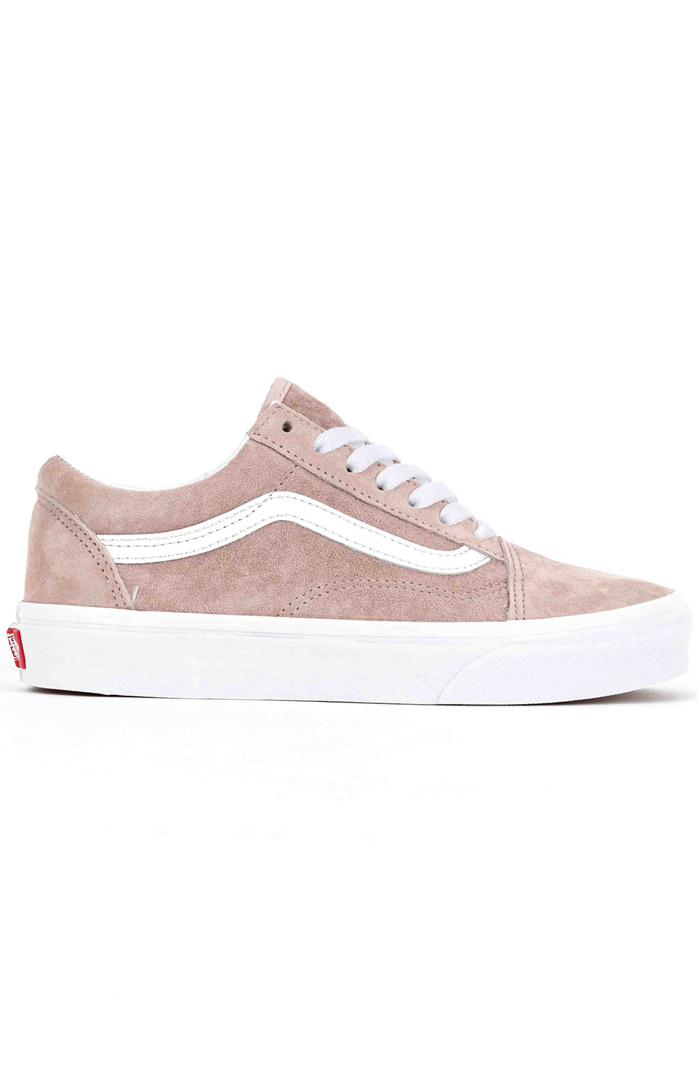 (BV5V79) Pig Suede Old Skool Shoe - Shadow Grey/True White