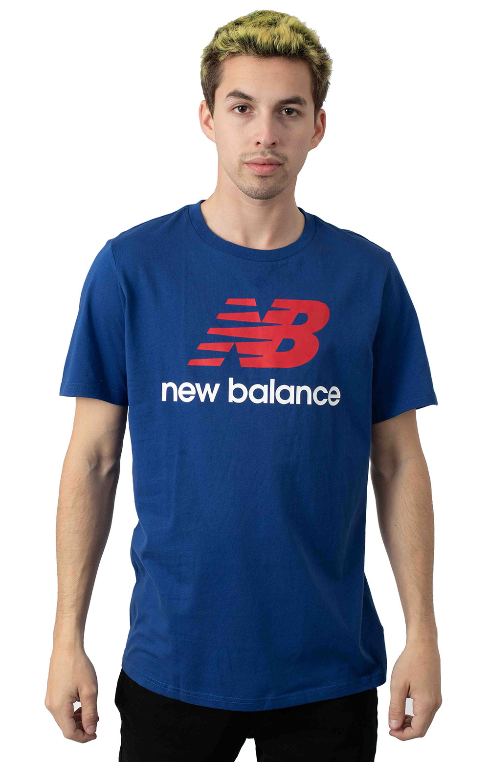 Essential Stacked Logo T-Shirt - Blue