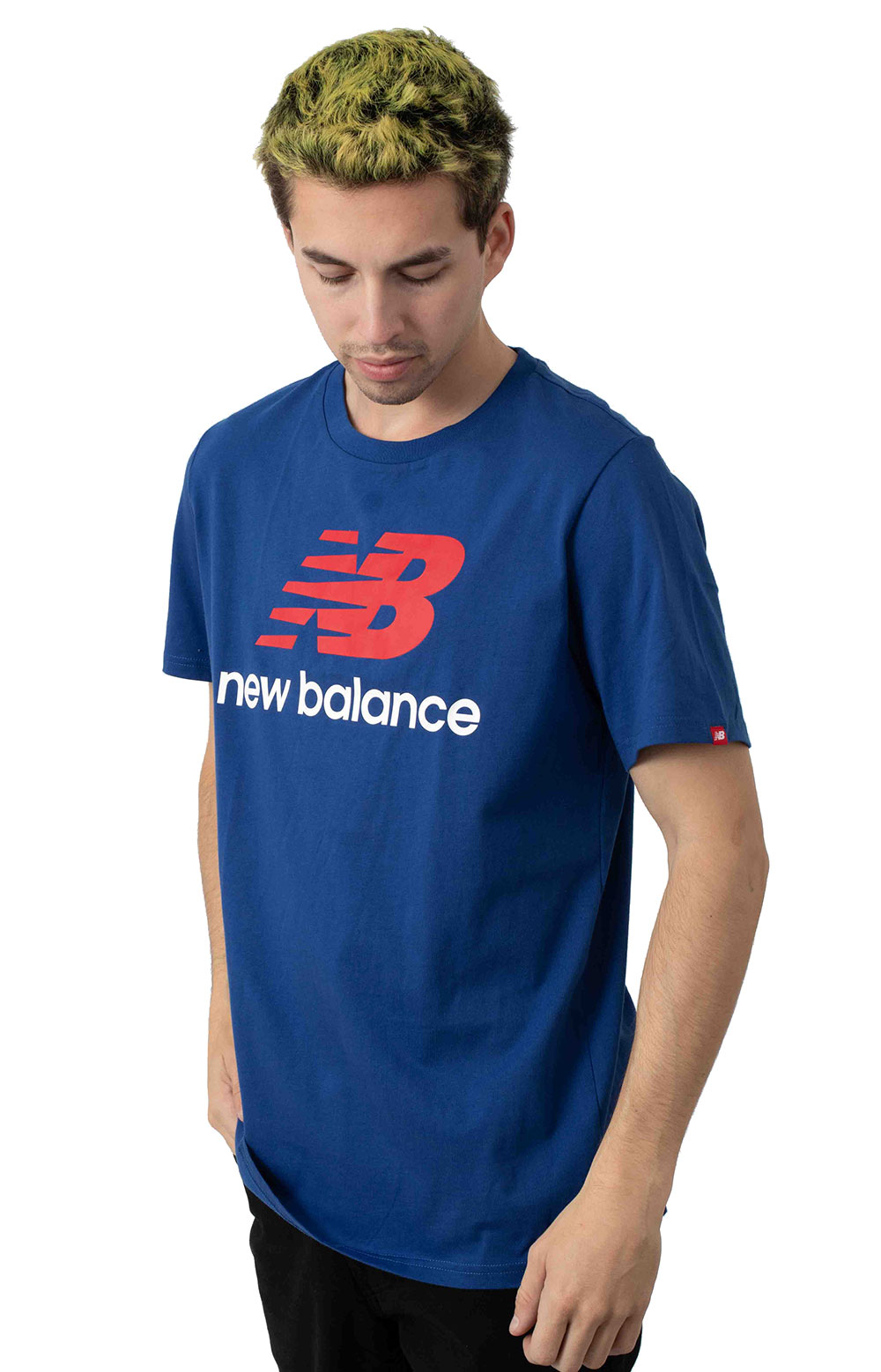 Essential Stacked Logo T-Shirt - Blue 2