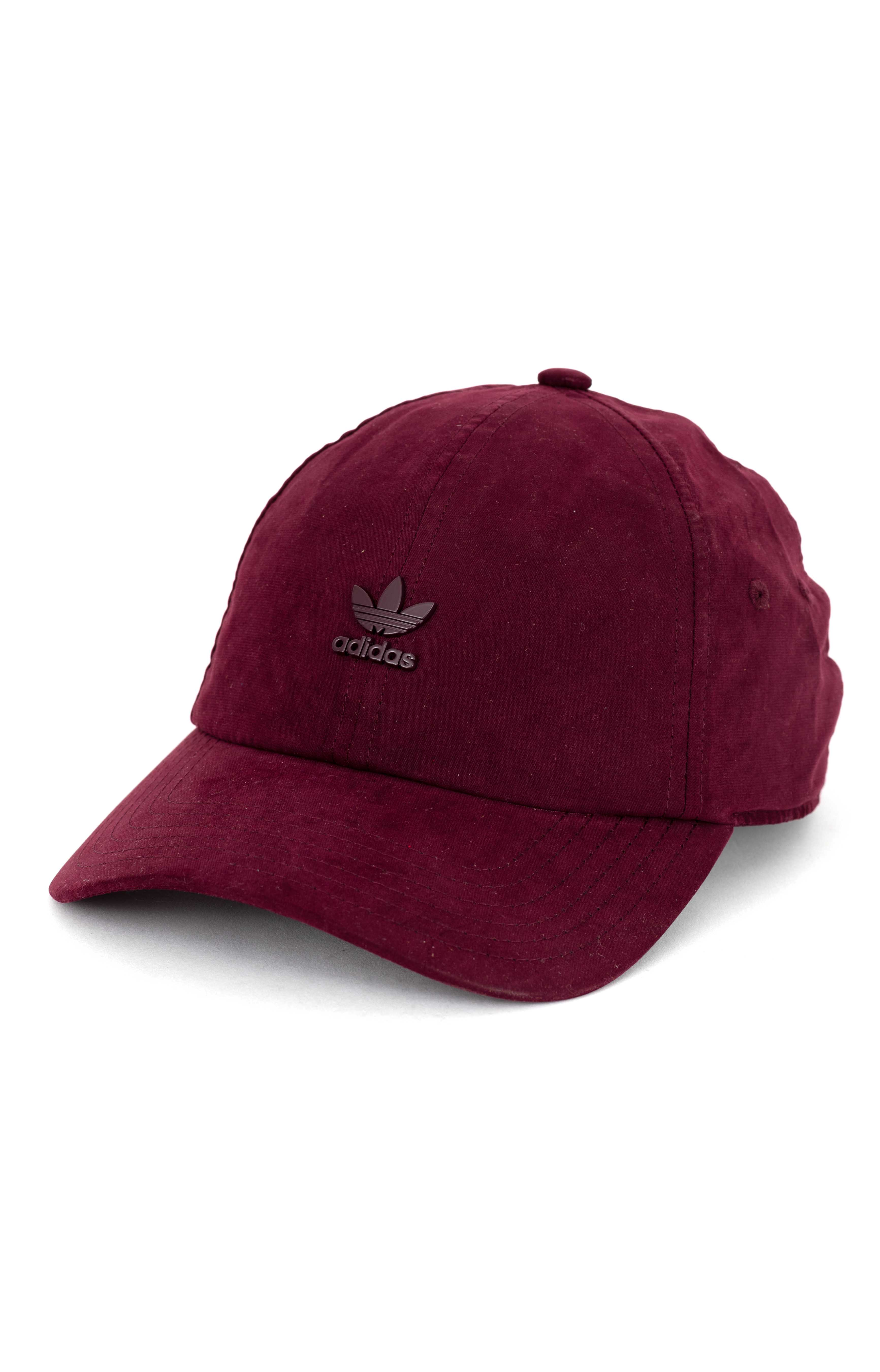 Original Relaxed Metal Strap-Back Hat - Maroon