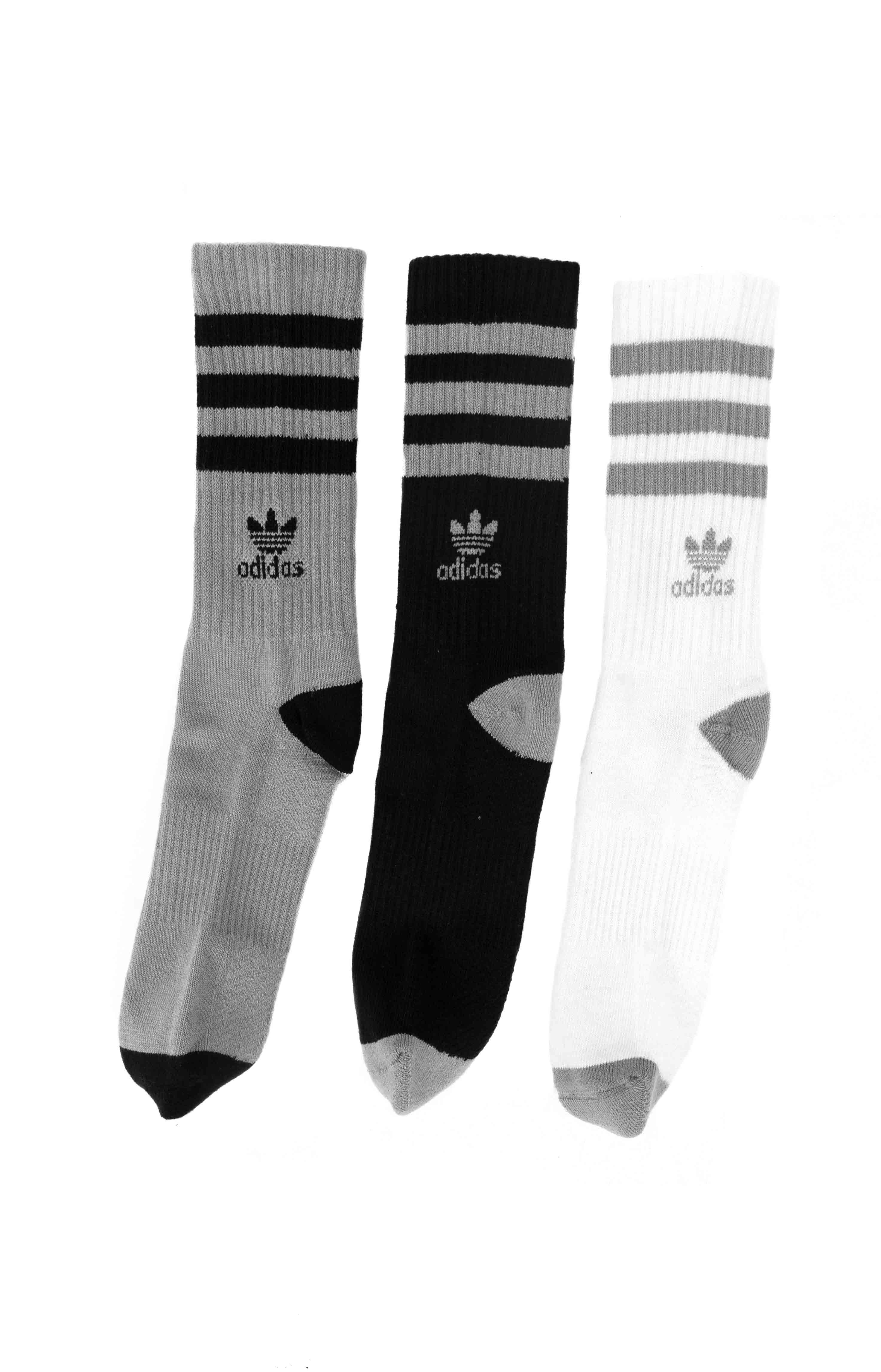 Roller Crew 3 Pack Socks - Onix/Black/White