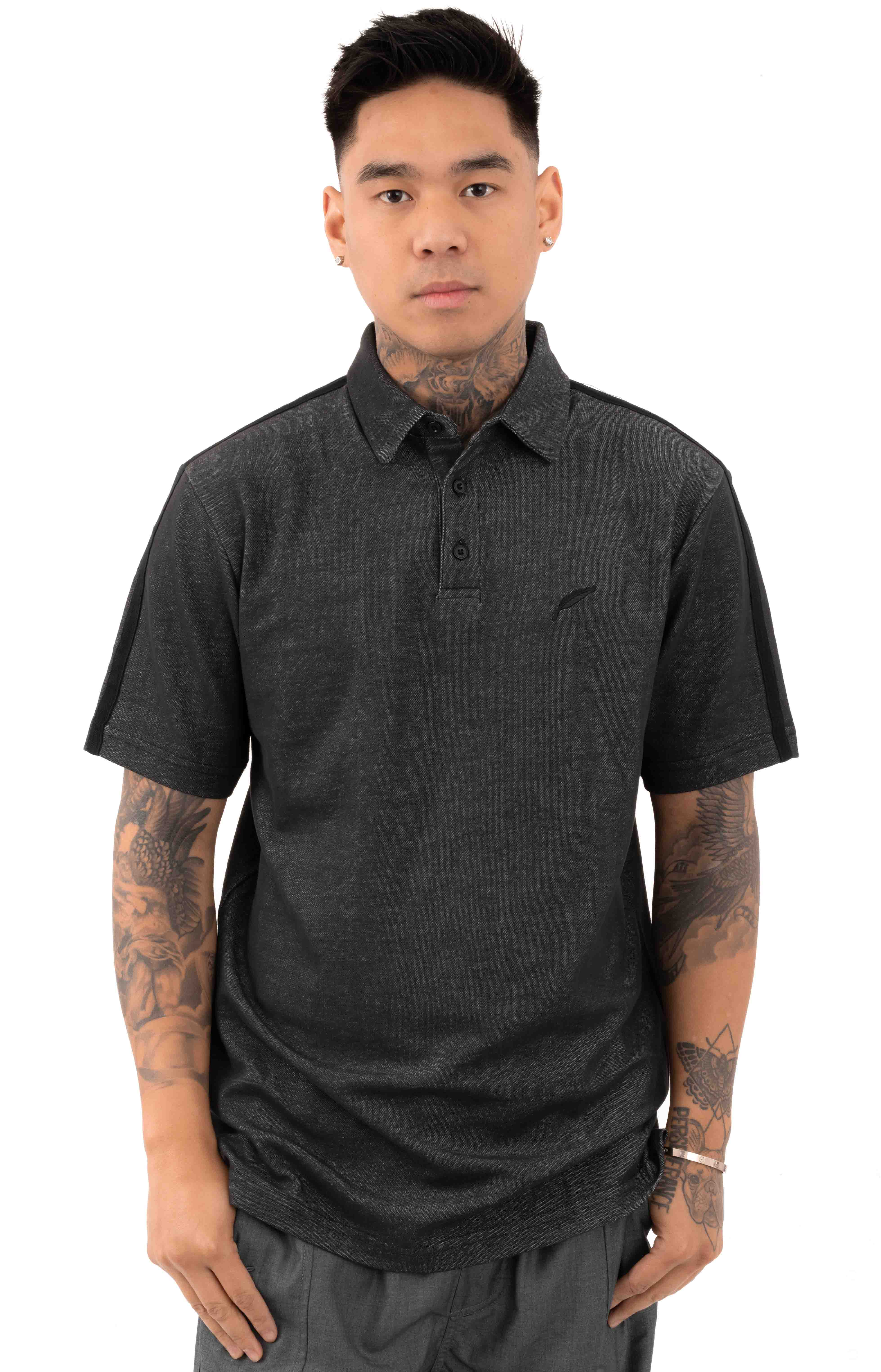 Index S/S Polo Shirt - Charcoal
