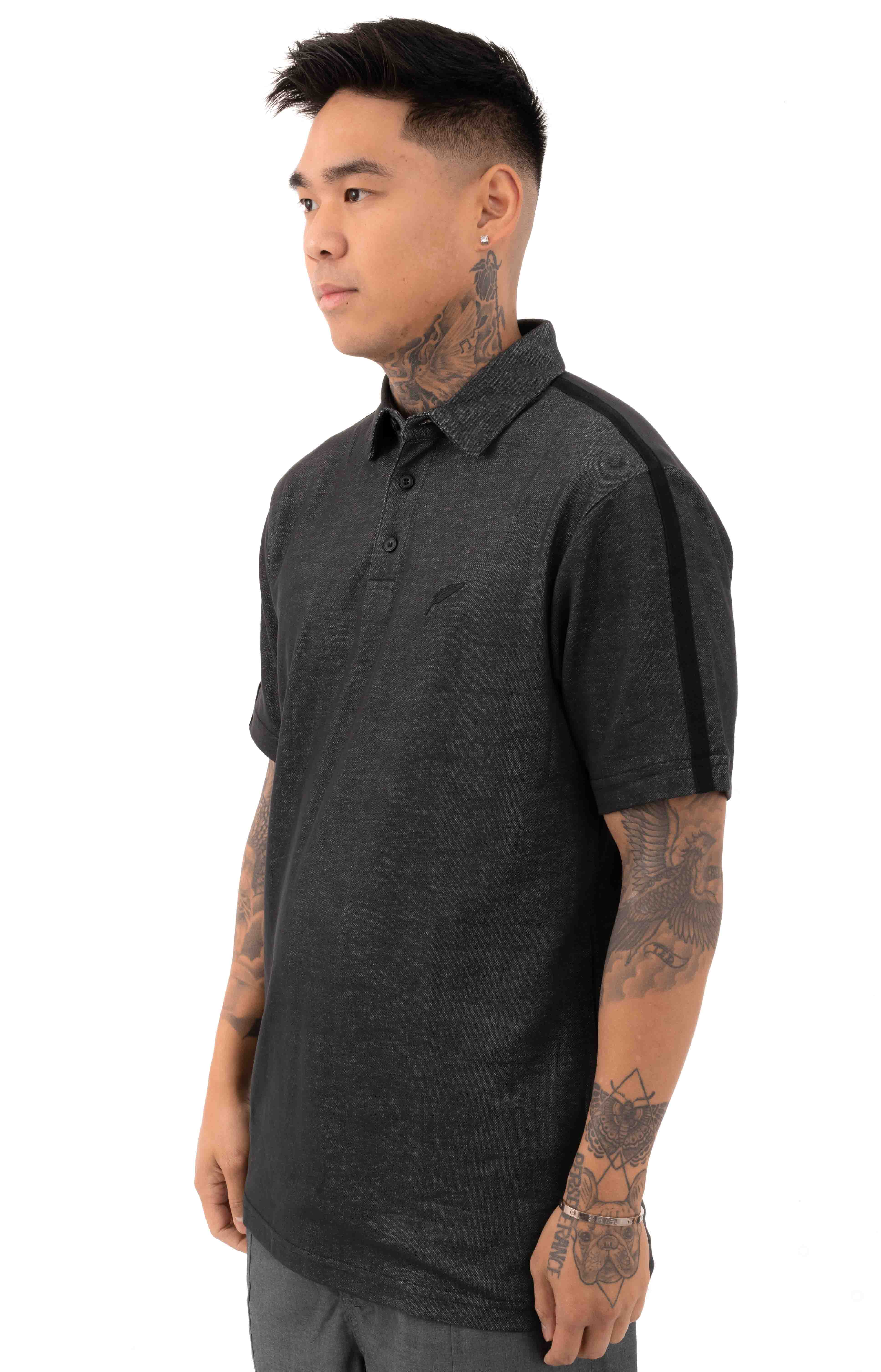 Index S/S Polo Shirt - Charcoal  2
