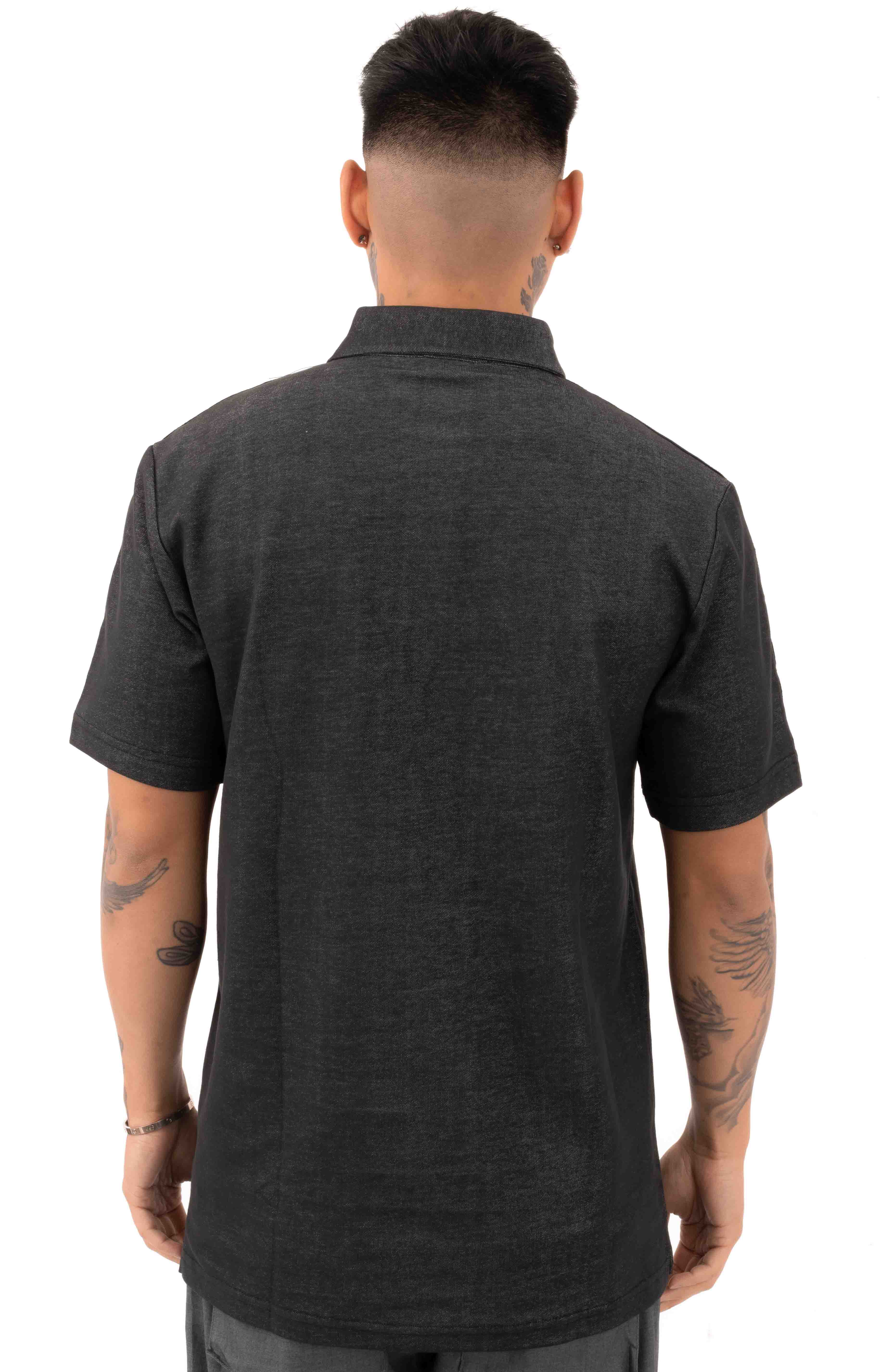 Index S/S Polo Shirt - Charcoal  3
