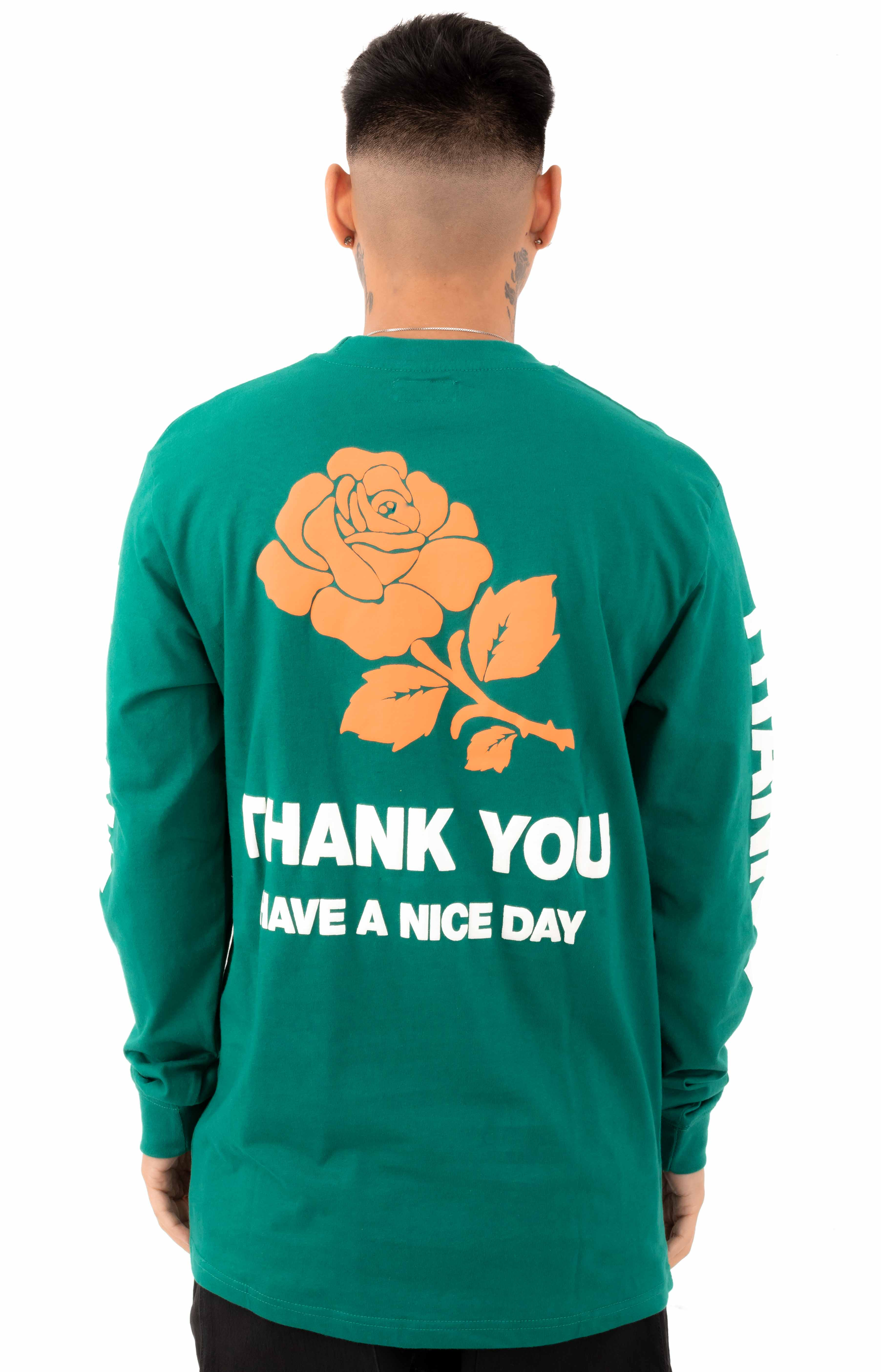 Thank You L/S Shirt - Spruce