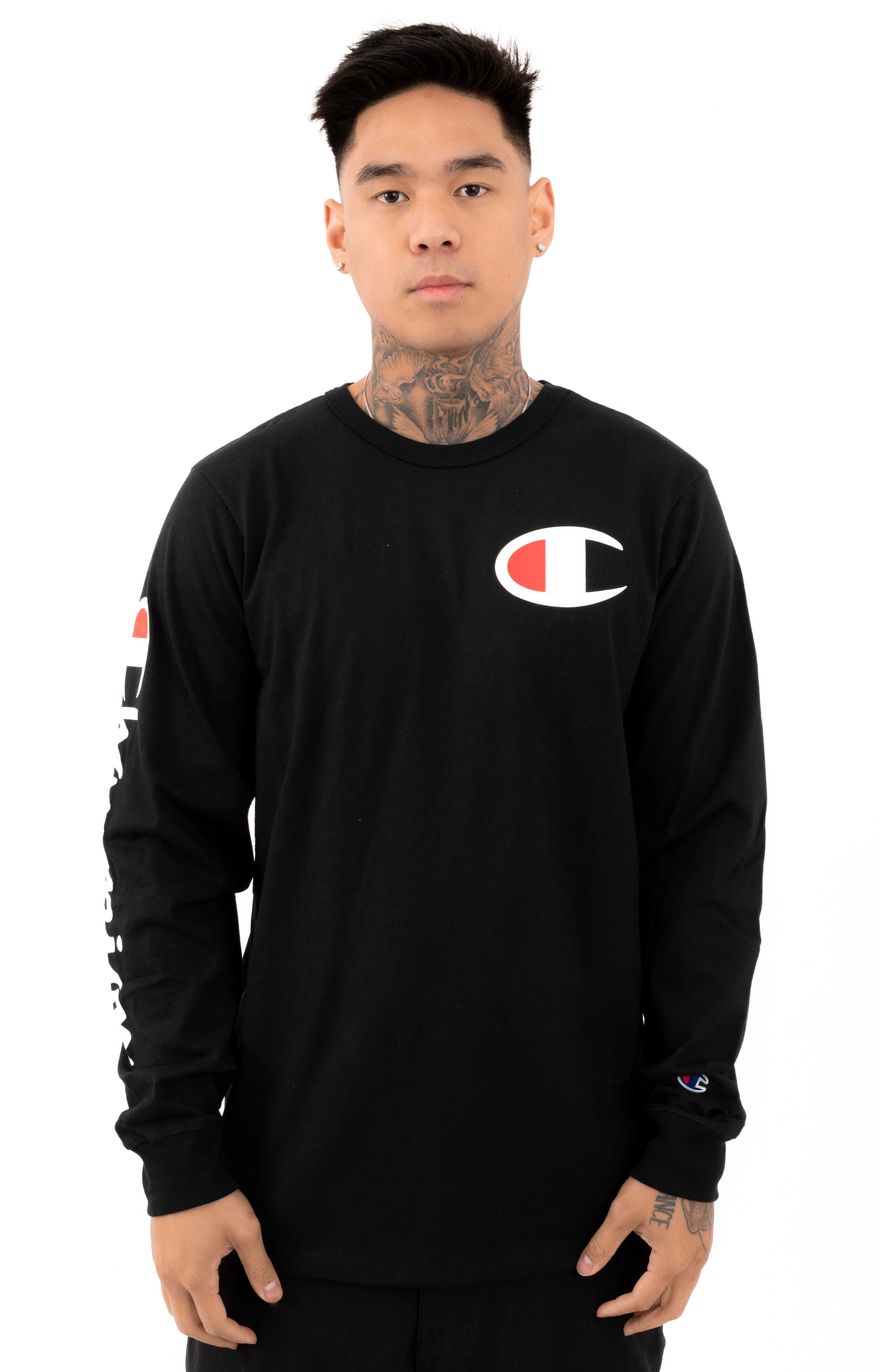 Heritage Large C L/S Shirt - Black