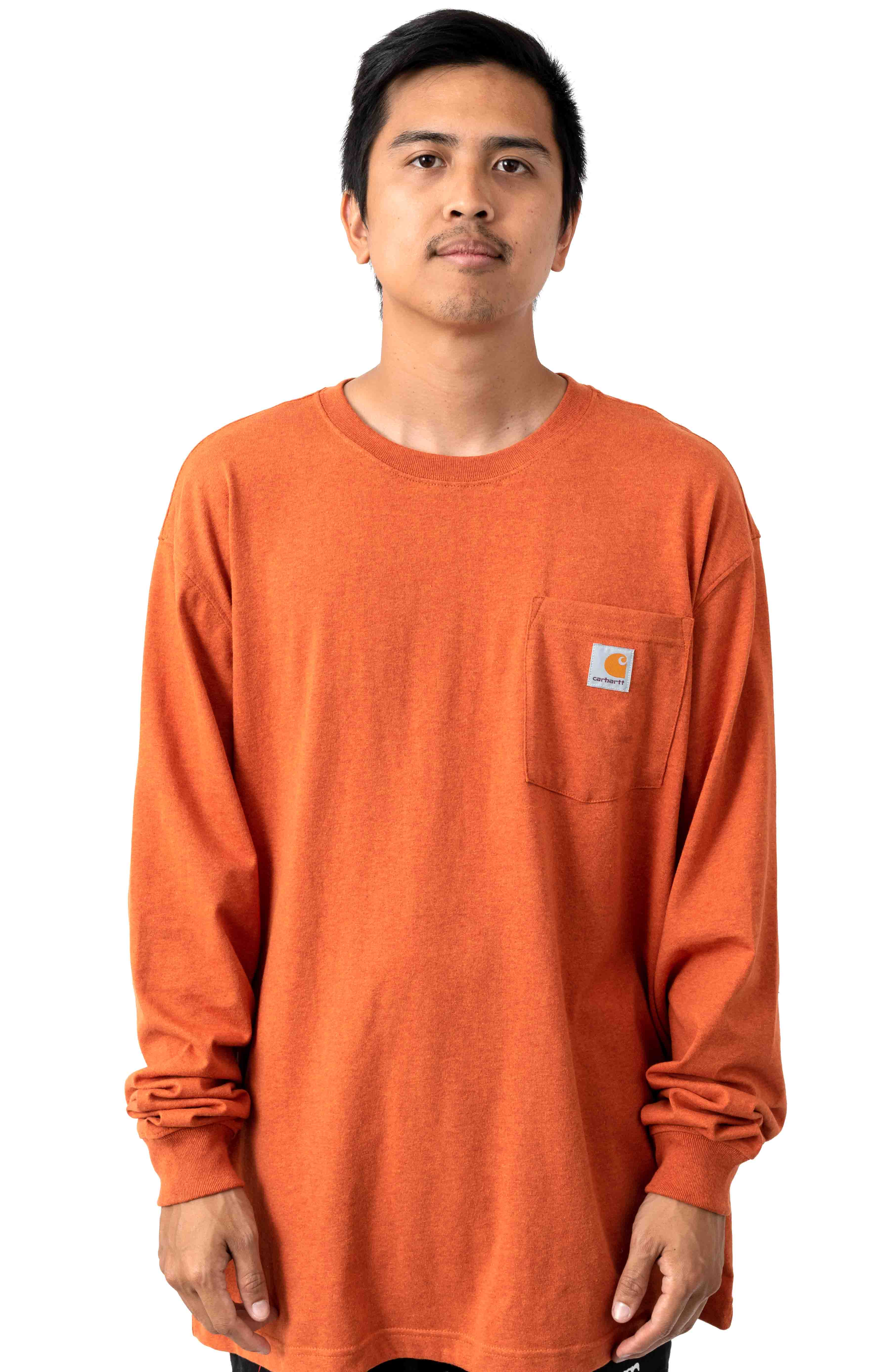 (K126) L/S Workwear Pocket Shirt - Amberwood Heather