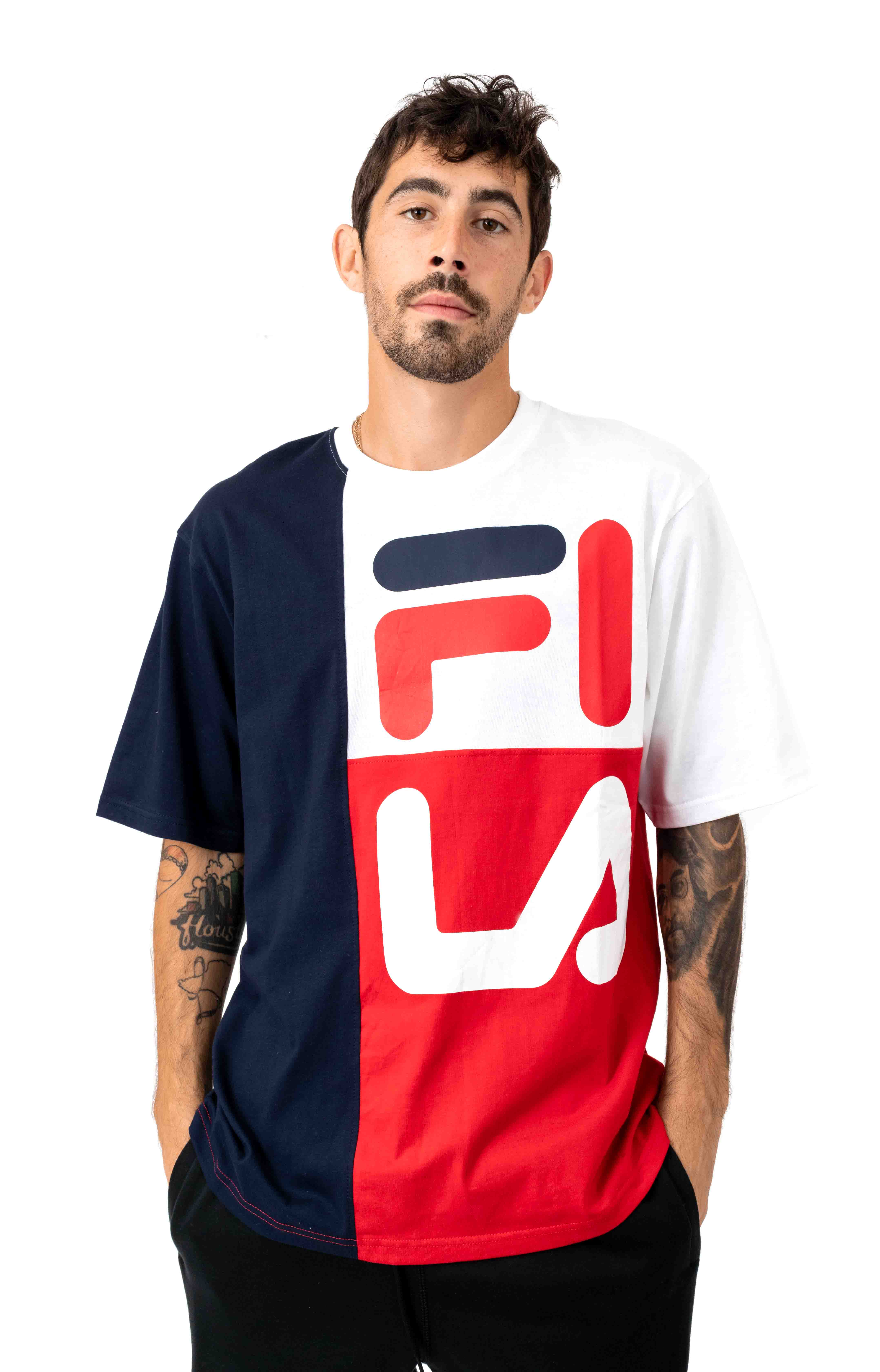Indo T-Shirt - Peacoat/White/Red