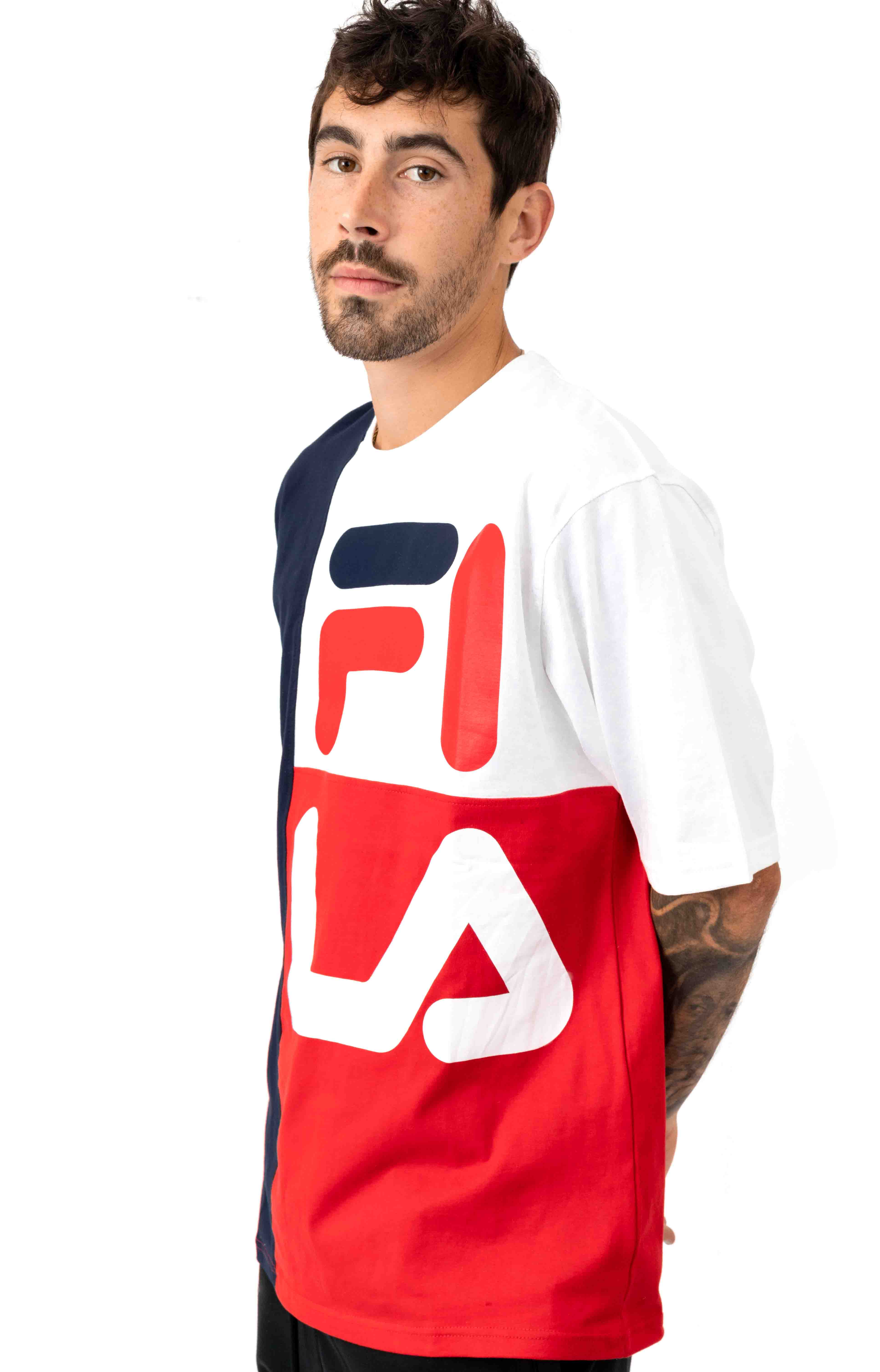 Indo T-Shirt - Peacoat/White/Red 2