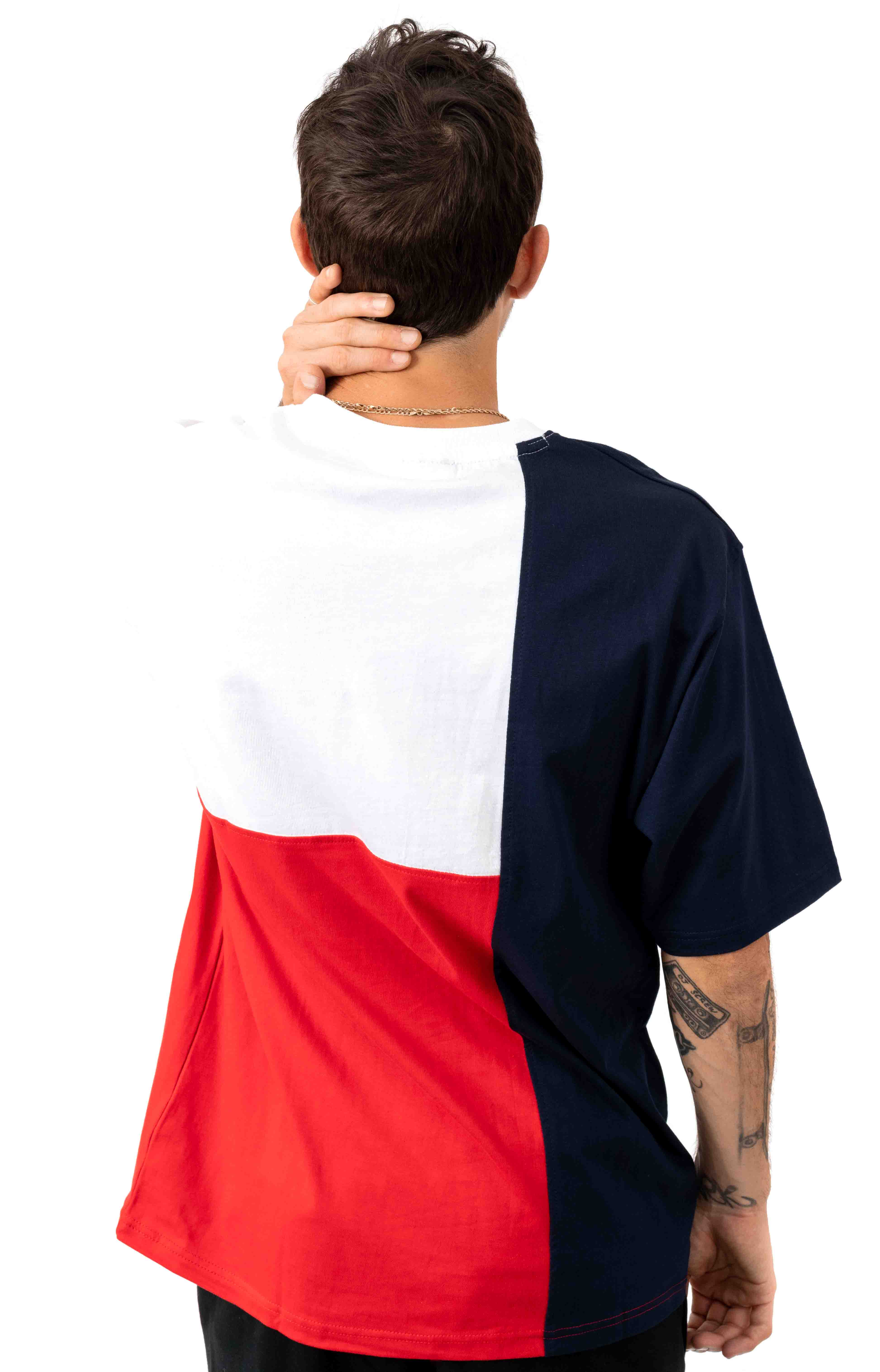 Indo T-Shirt - Peacoat/White/Red 3
