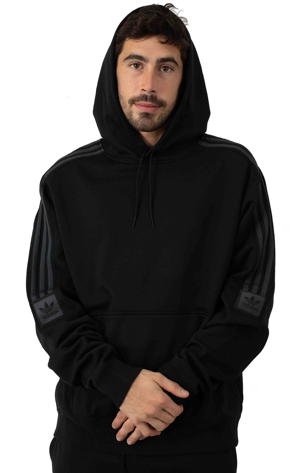 Tech Pullover Hoodie - Black/Carbon