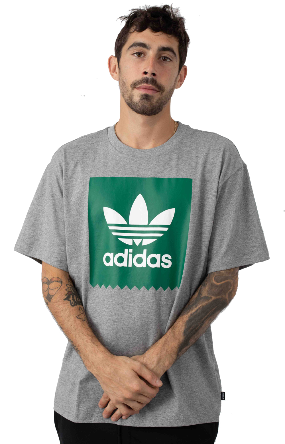 Solid BB T-Shirt - Core Heather/Bold Green