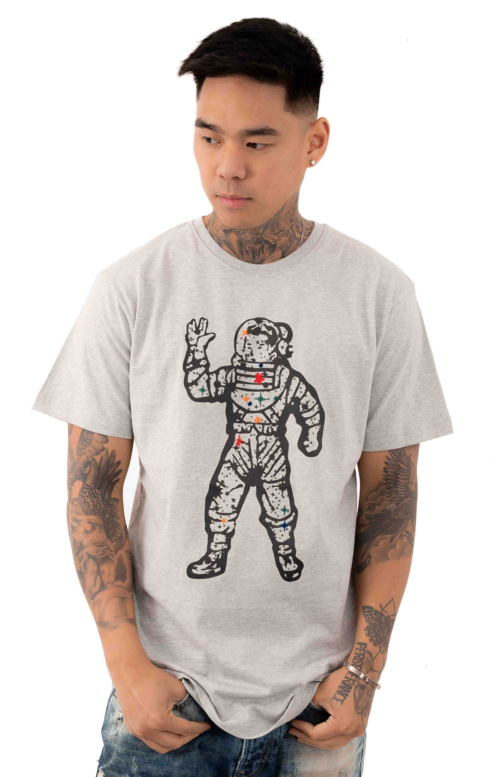 Stars T-Shirt - Heather Grey