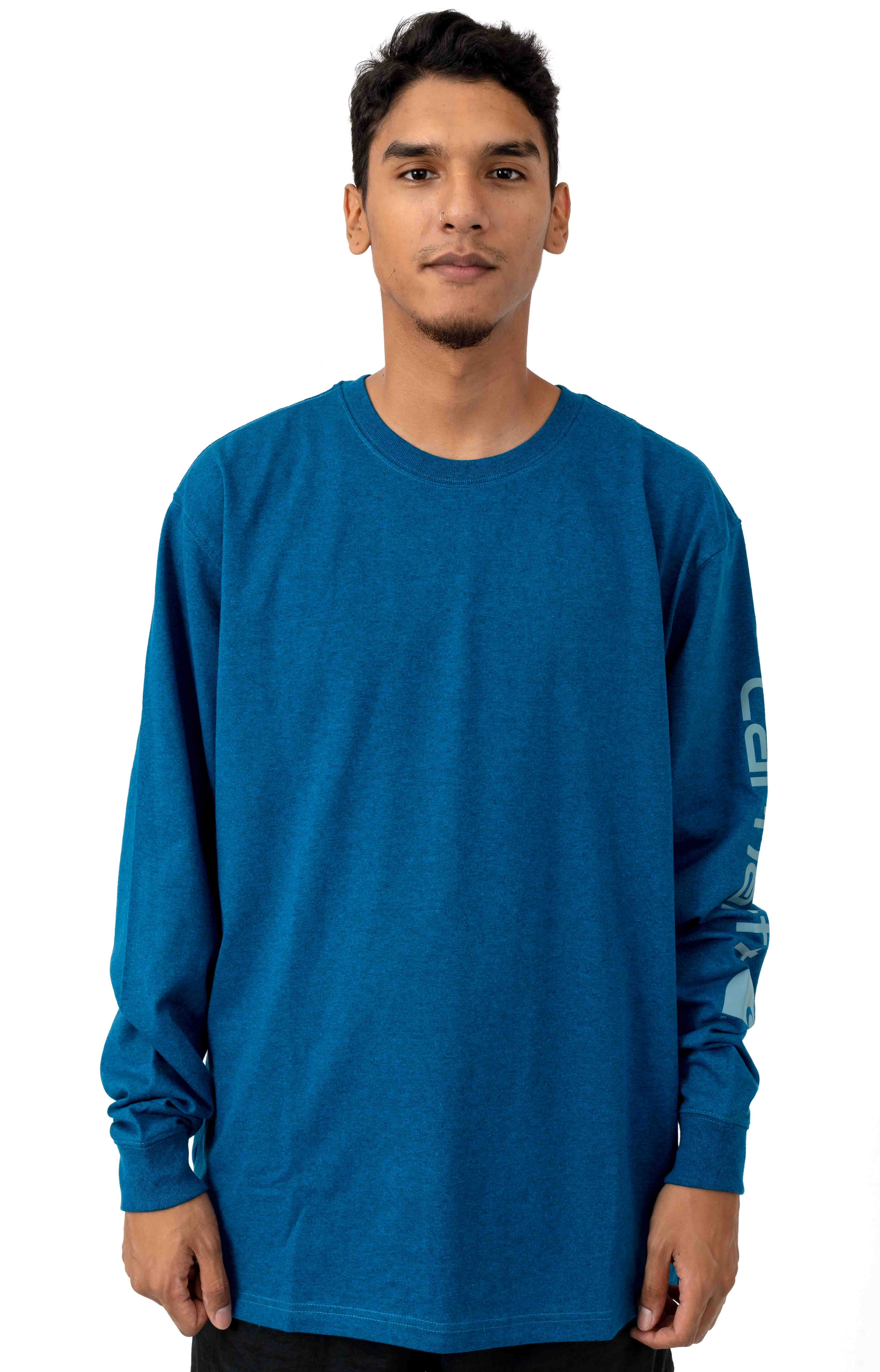 (K231) Signature Sleeve Logo L/S Shirt - Bold Blue Heather