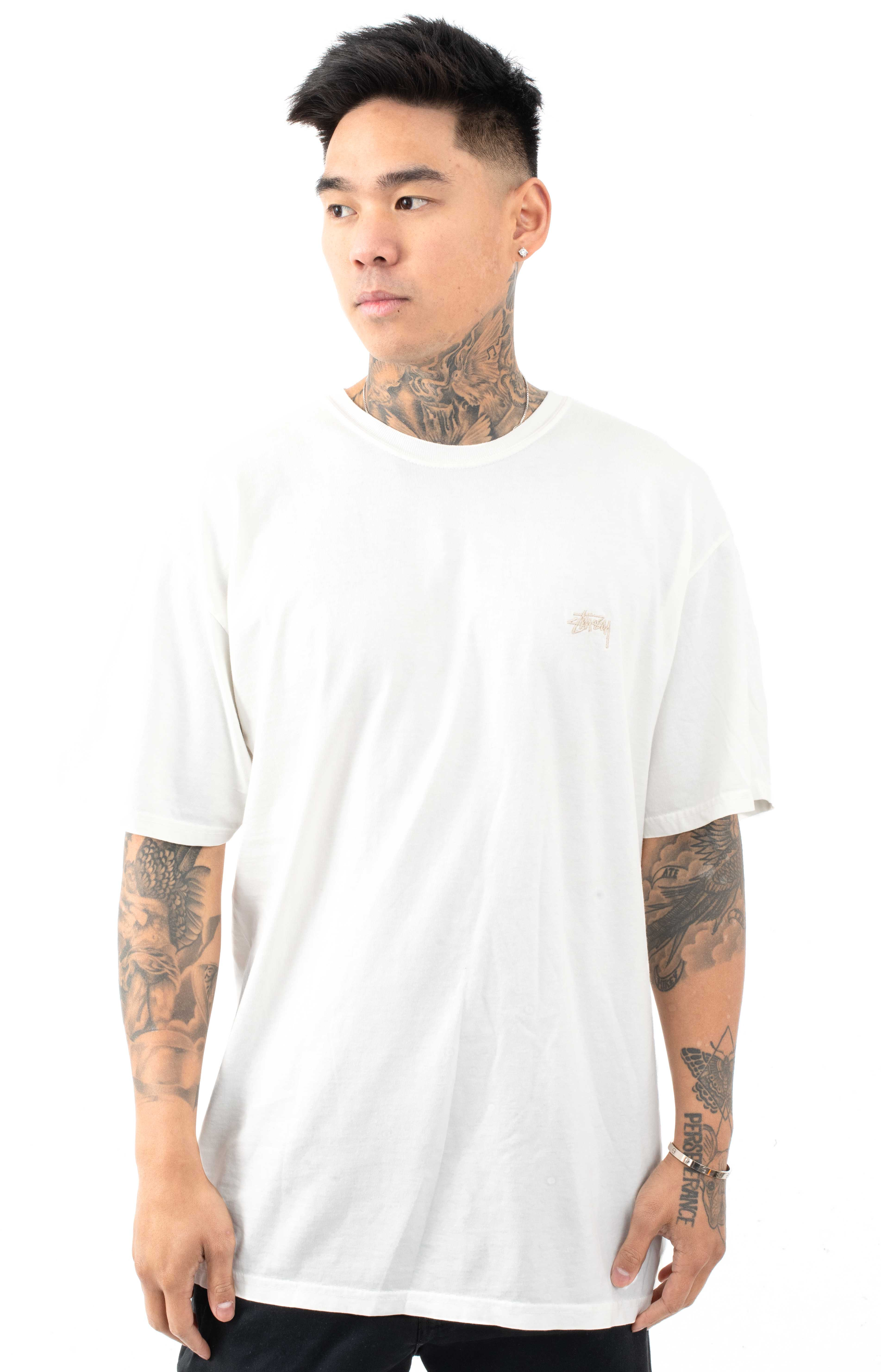 Stussy 76103 Small Stock Pigment Dyed T-Shirt - Natural