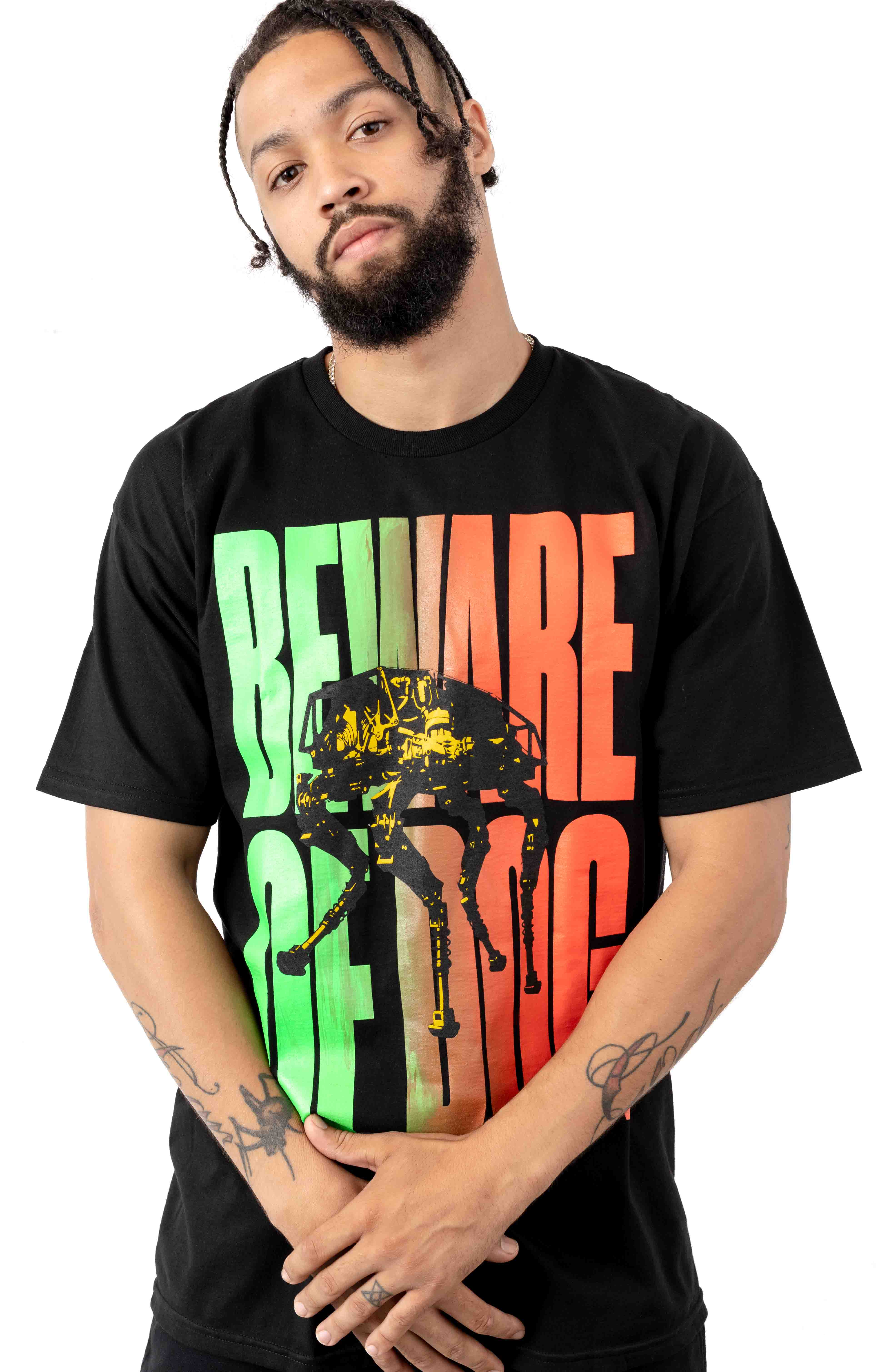 Beware Of Dog T-Shirt - Black