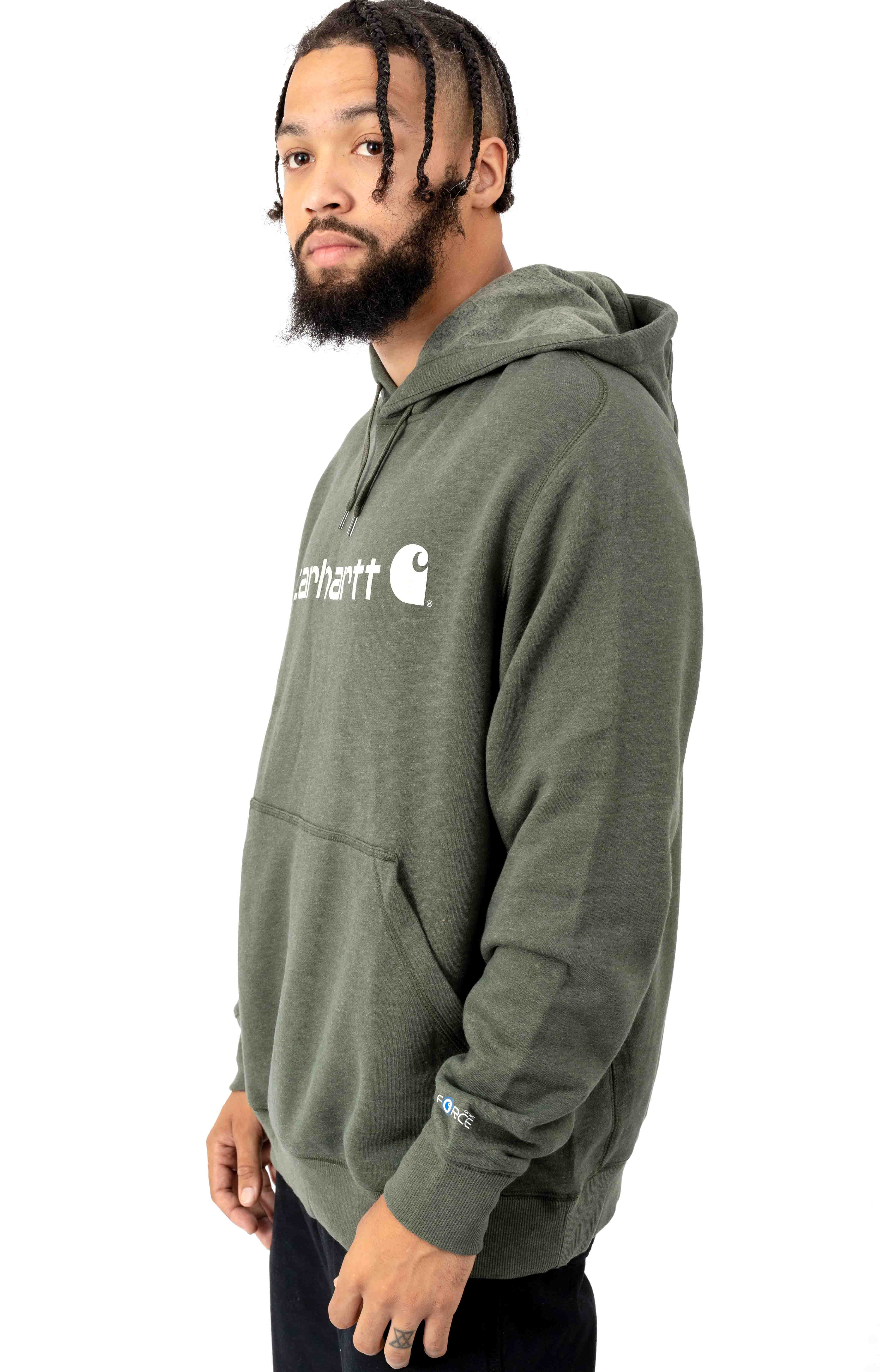 (103873) Force Delmont Signature Graphic Pullover Hoodie - Moss Heather  2