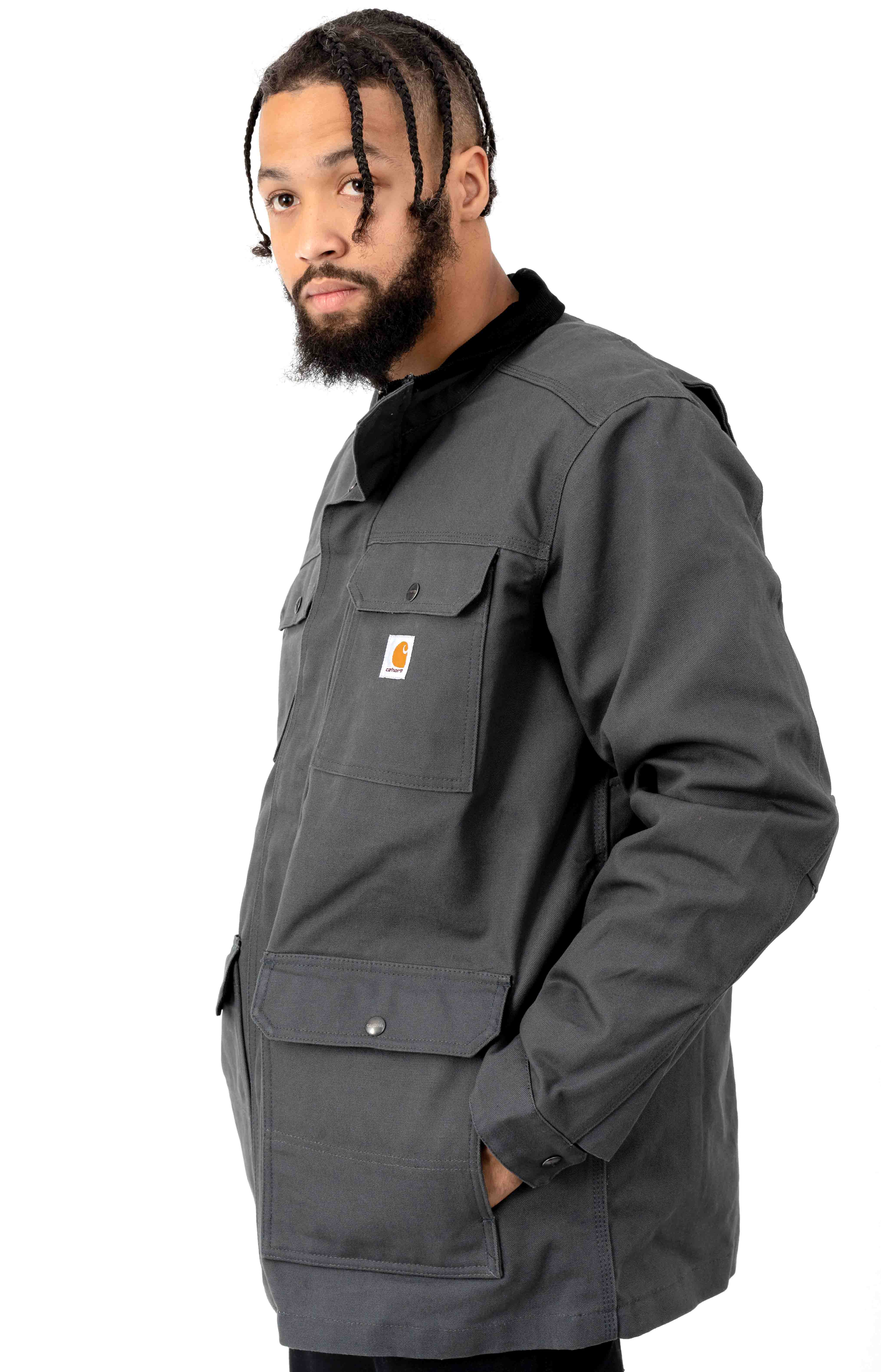 (103289) Filed Coat - Shadow/Black Lining  2