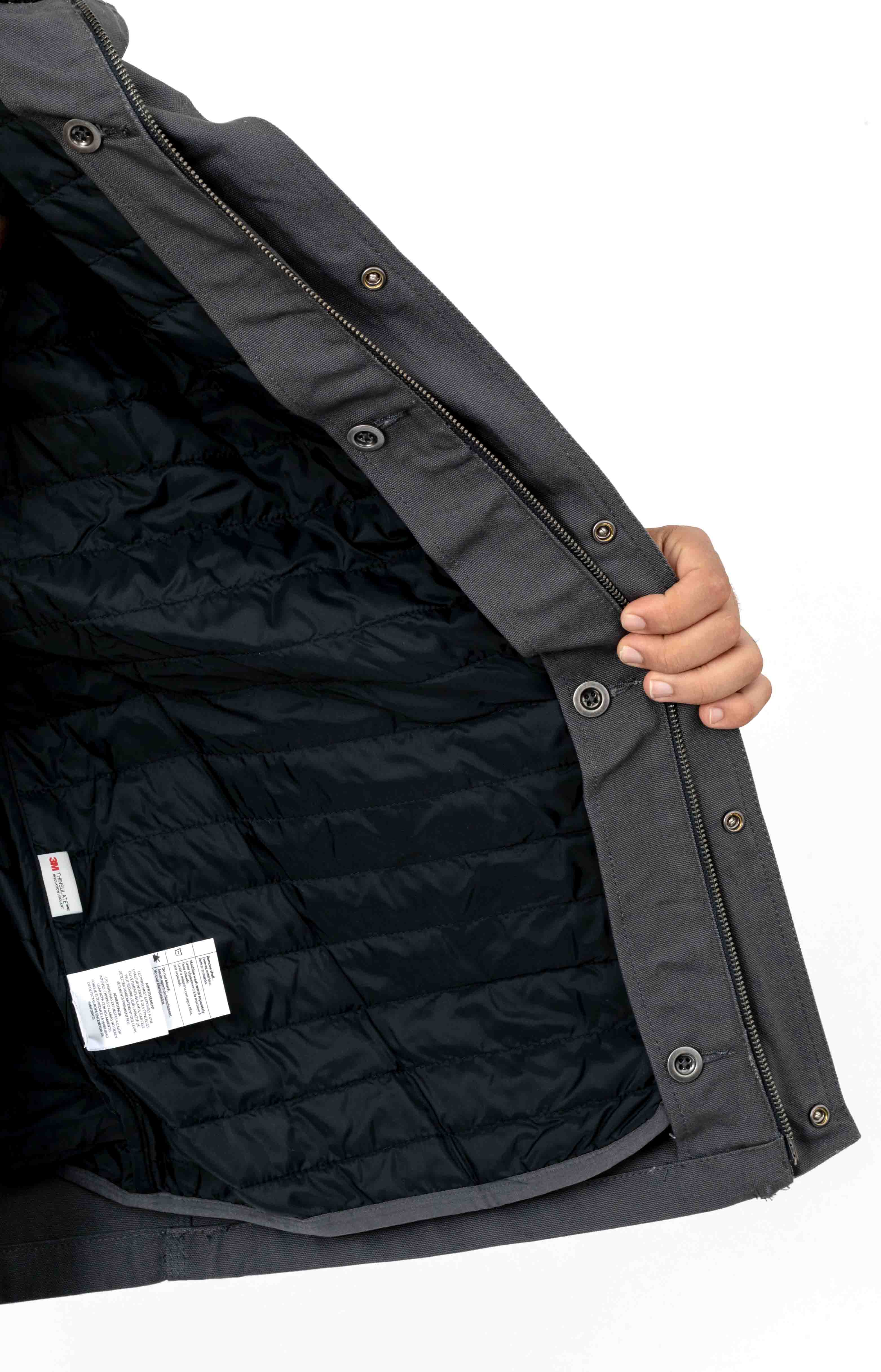 (103289) Filed Coat - Shadow/Black Lining  4