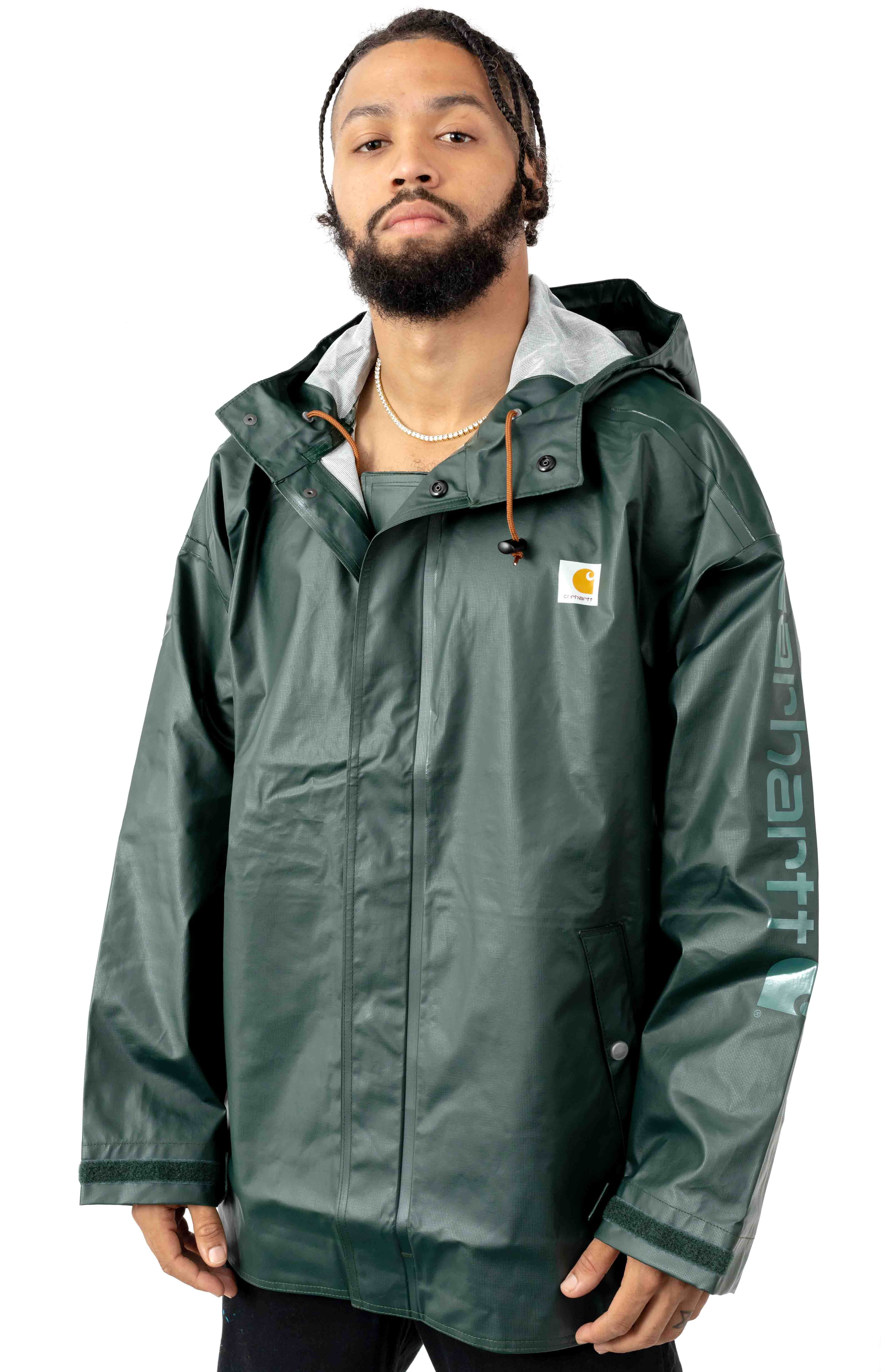 (103509) Lightweight Waterproof Rainstorm Jacket - Canopy Green