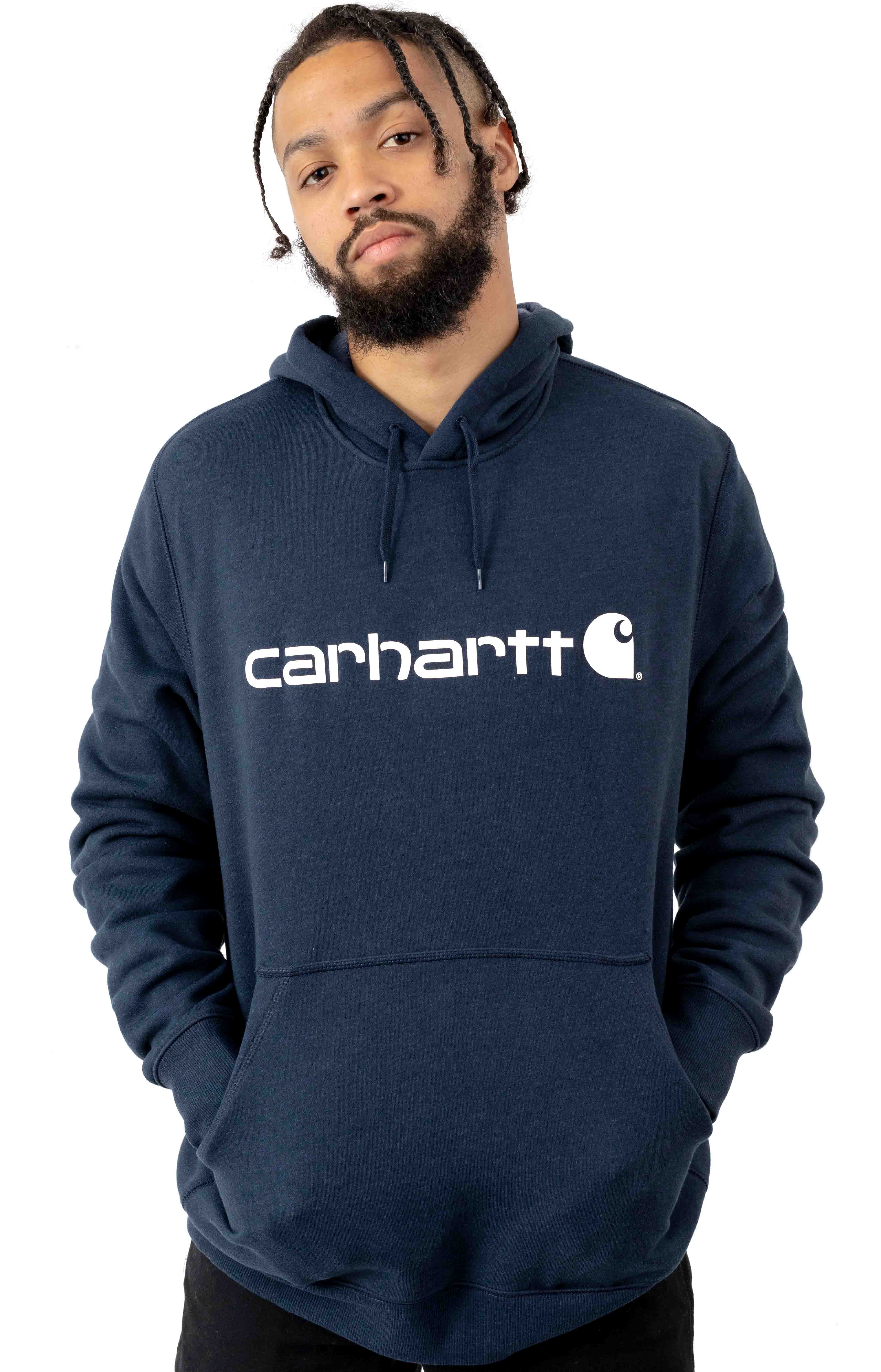 (103873) Force Delmont Signature Graphic Pullover Hoodie - Navy Heather