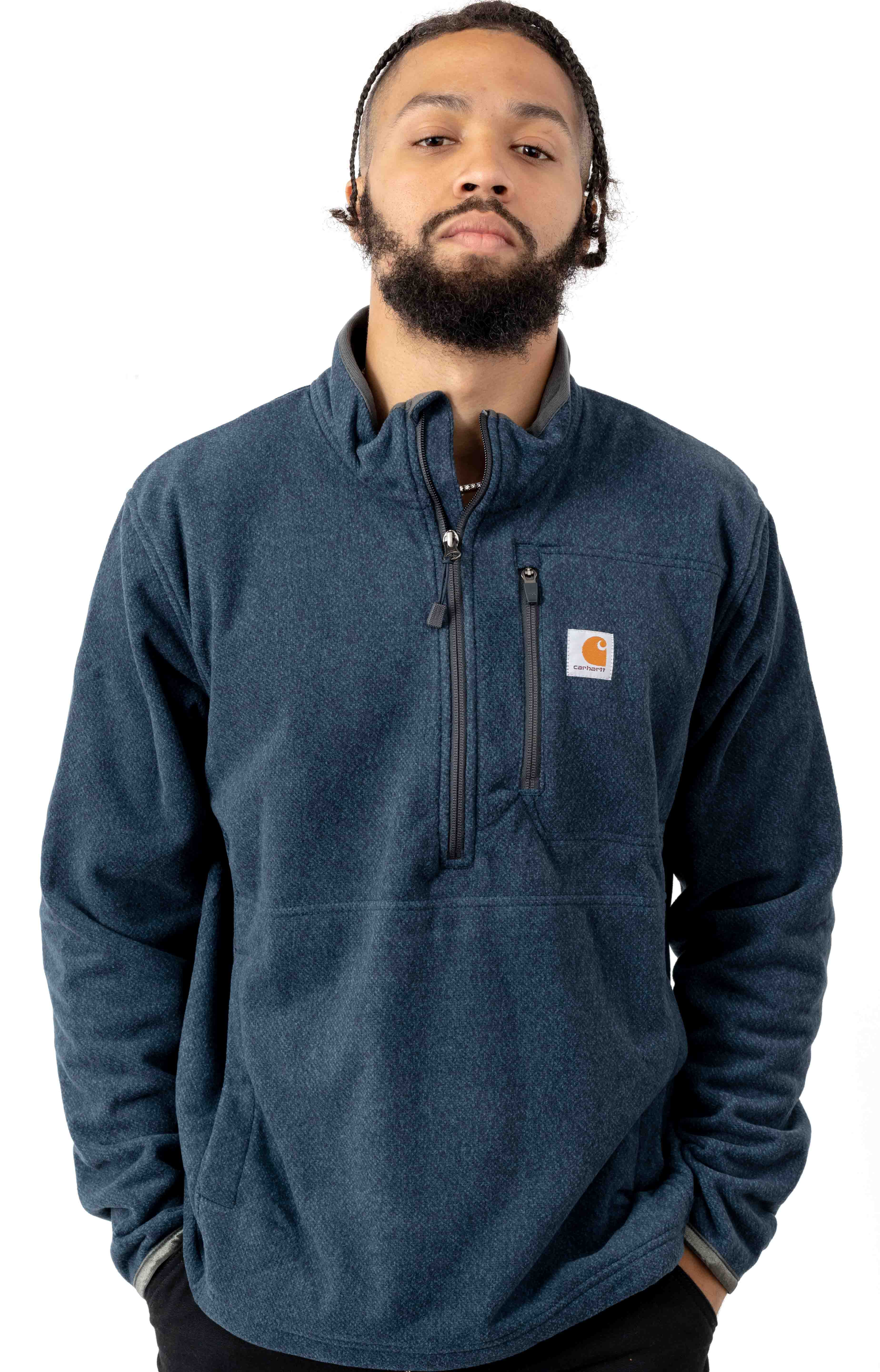 (103831) Dalton Half-Zip Fleece Jacket - Navy Heather