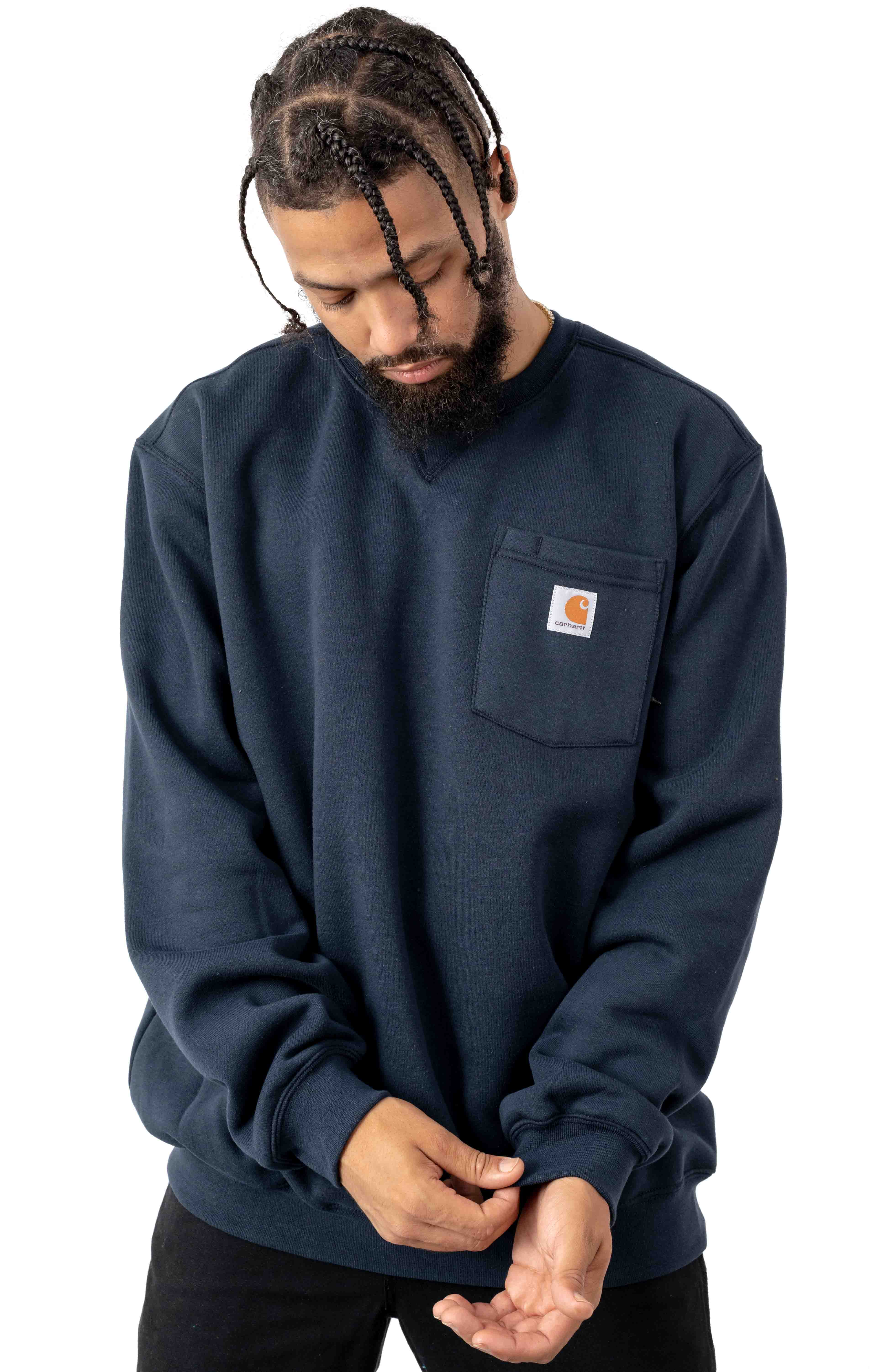 (103852) Crewneck Pocket Sweatshirt - New Navy