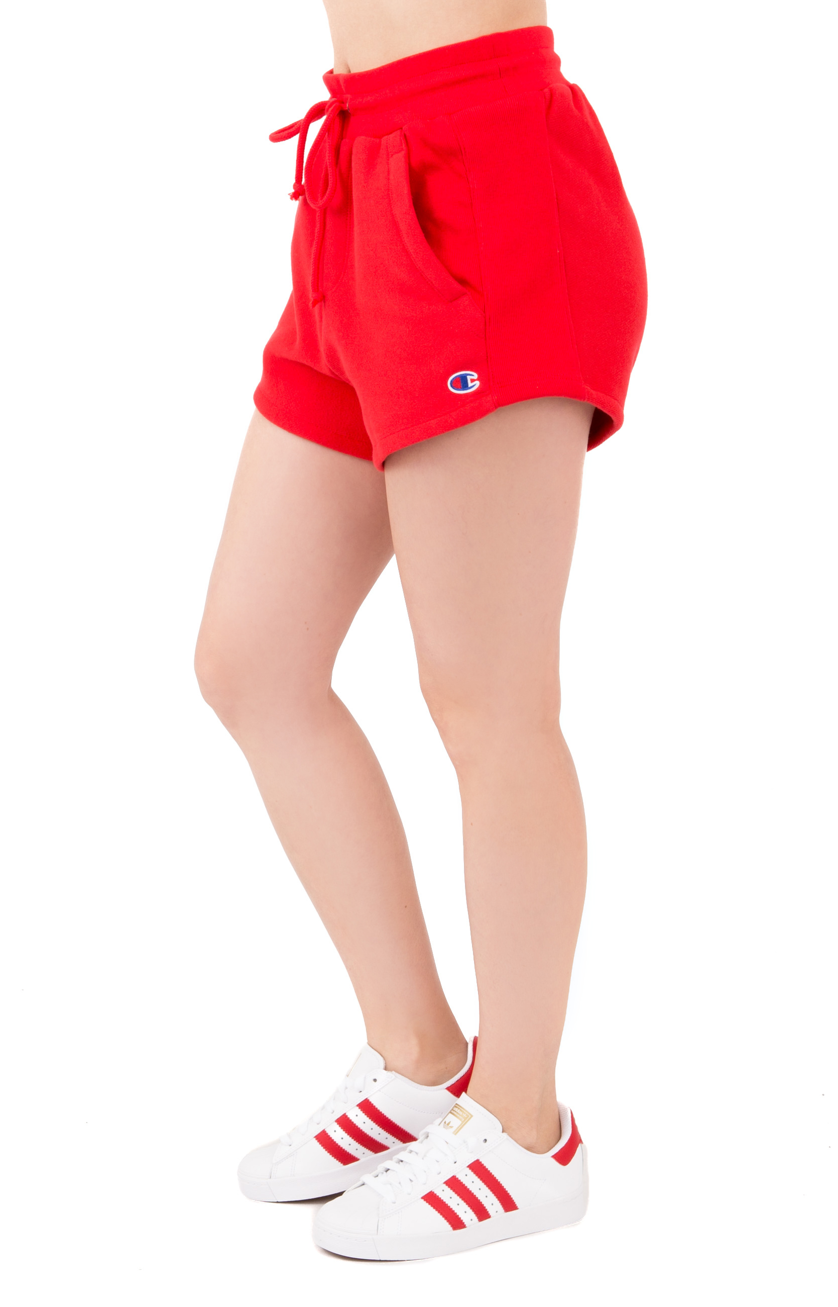 Reverse Weave Shorts - Red Spark