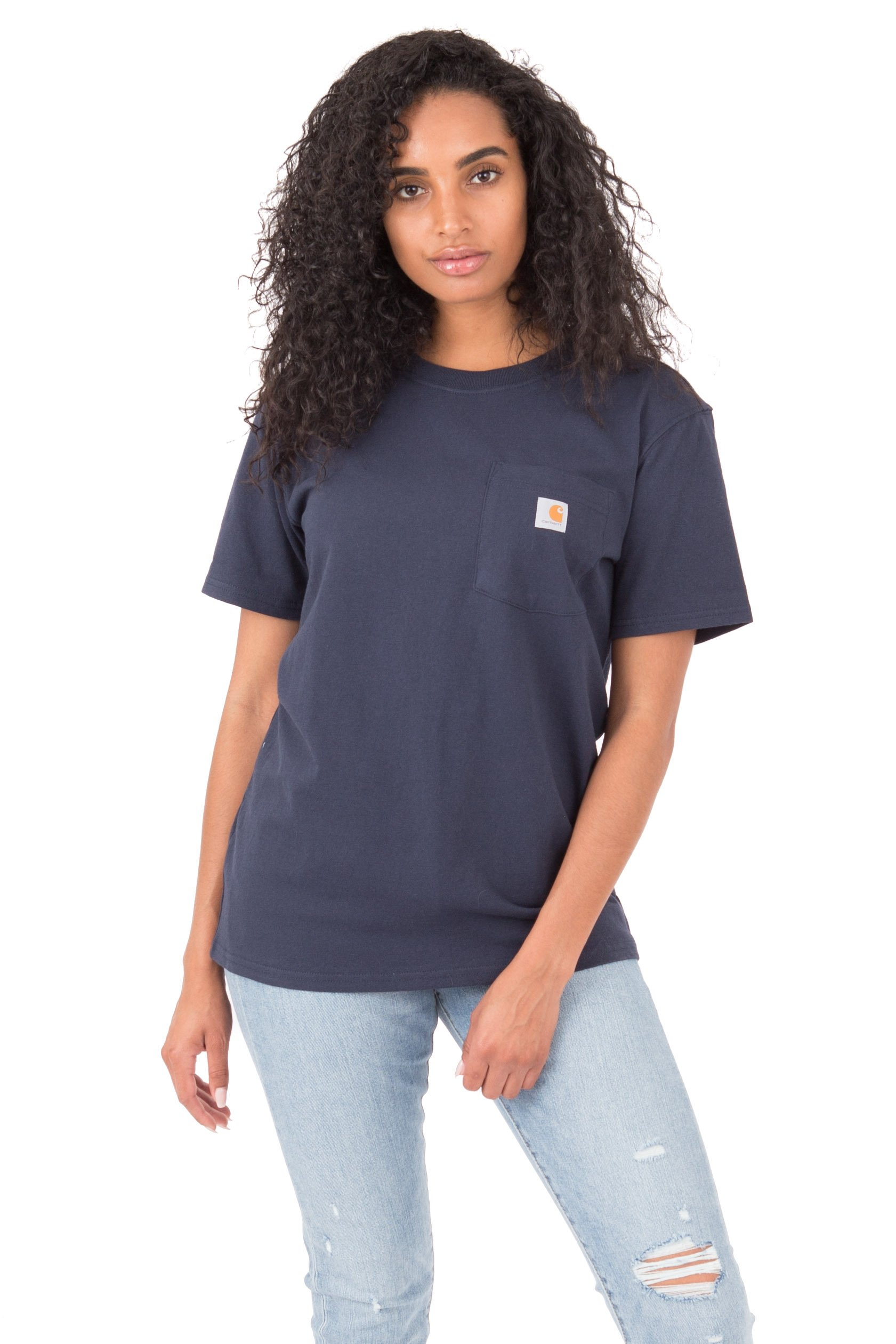 Carhartt Women's, (103067) WK87 Workwear Pocket T-Shirt - Navy