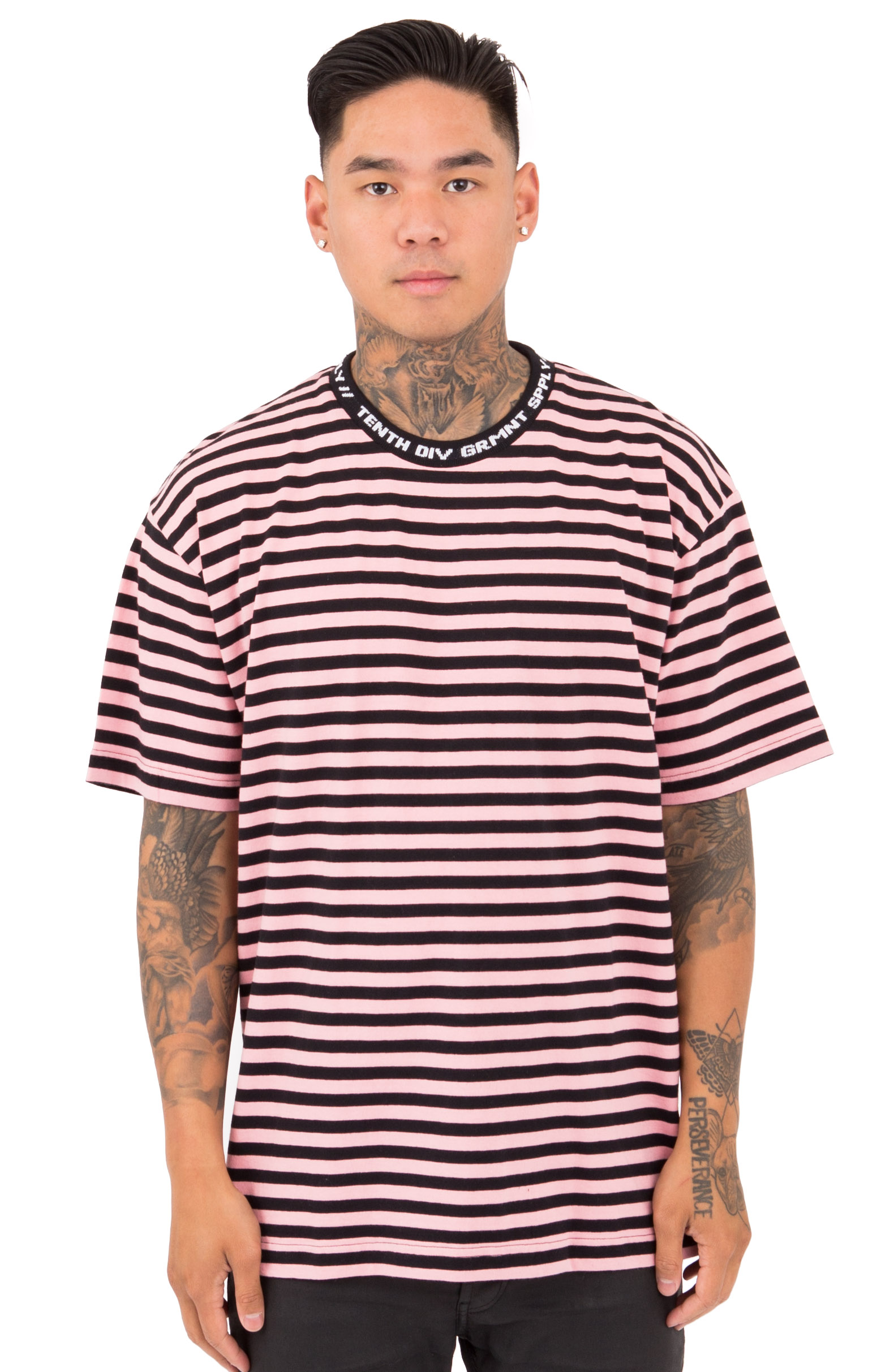 10 Deep, 24 Hour Striped T-Shirt - Pink
