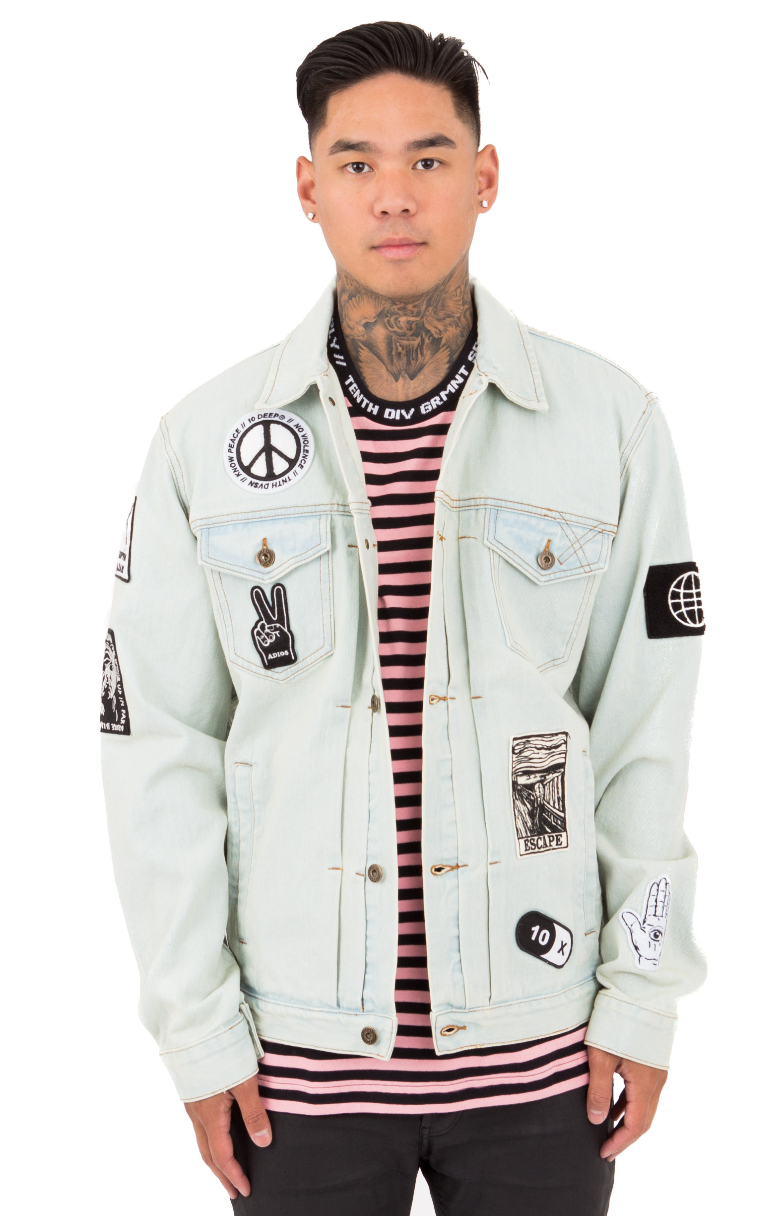10 Deep, Bad Acid Denim Jacket - Light Stone Wash