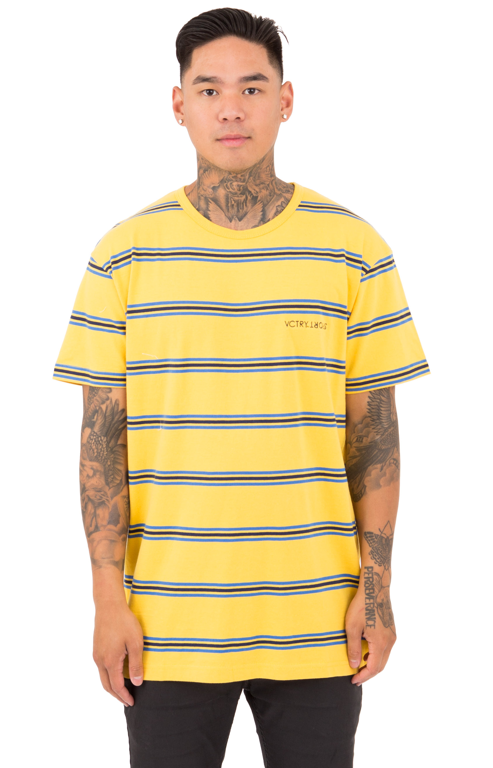 10 Deep, Members Stripe T-Shirt - Yellow