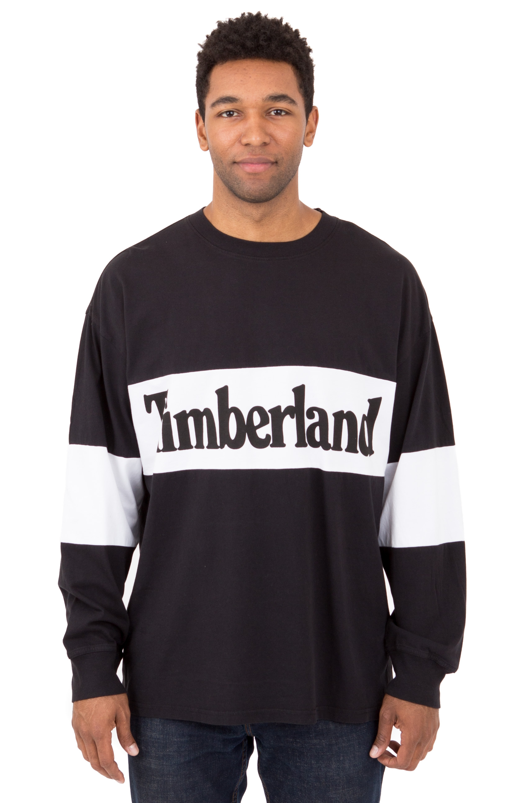Warner River LS Retro Oversized T-Shirt - Black