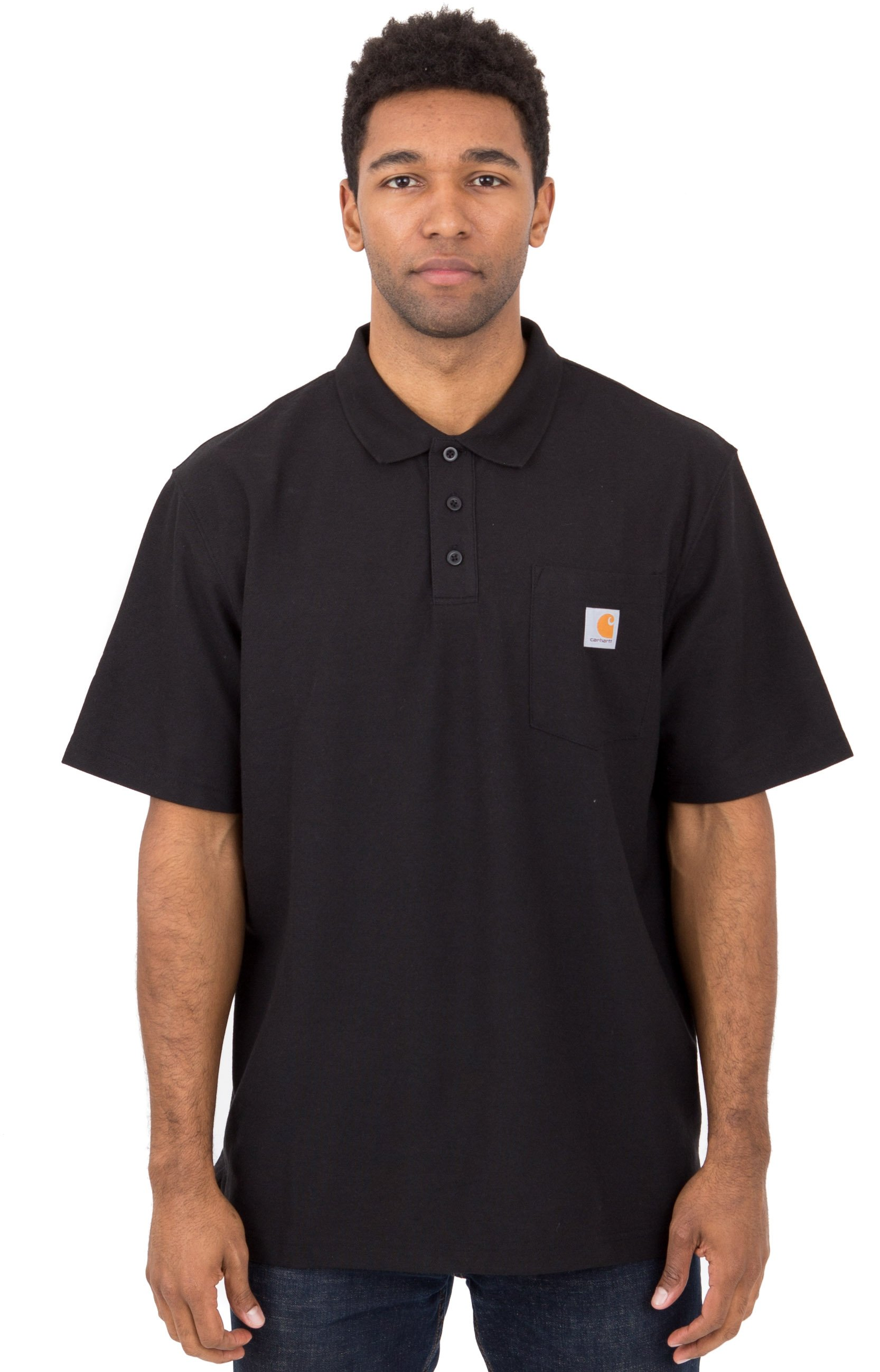 (K570) Contractor's Work Pocket Polo - Black