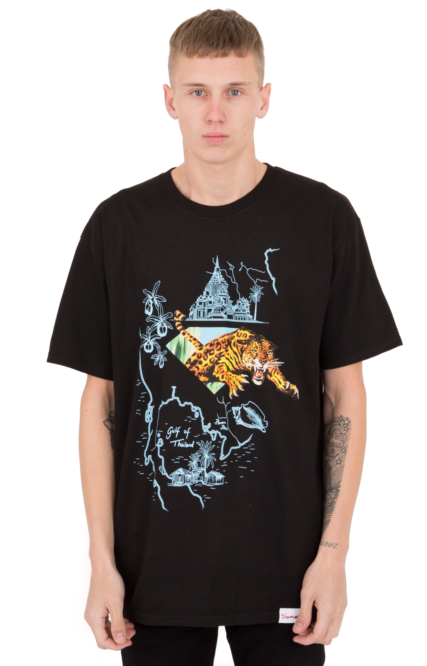 Diamond Supply, Gulf T-Shirt - Black