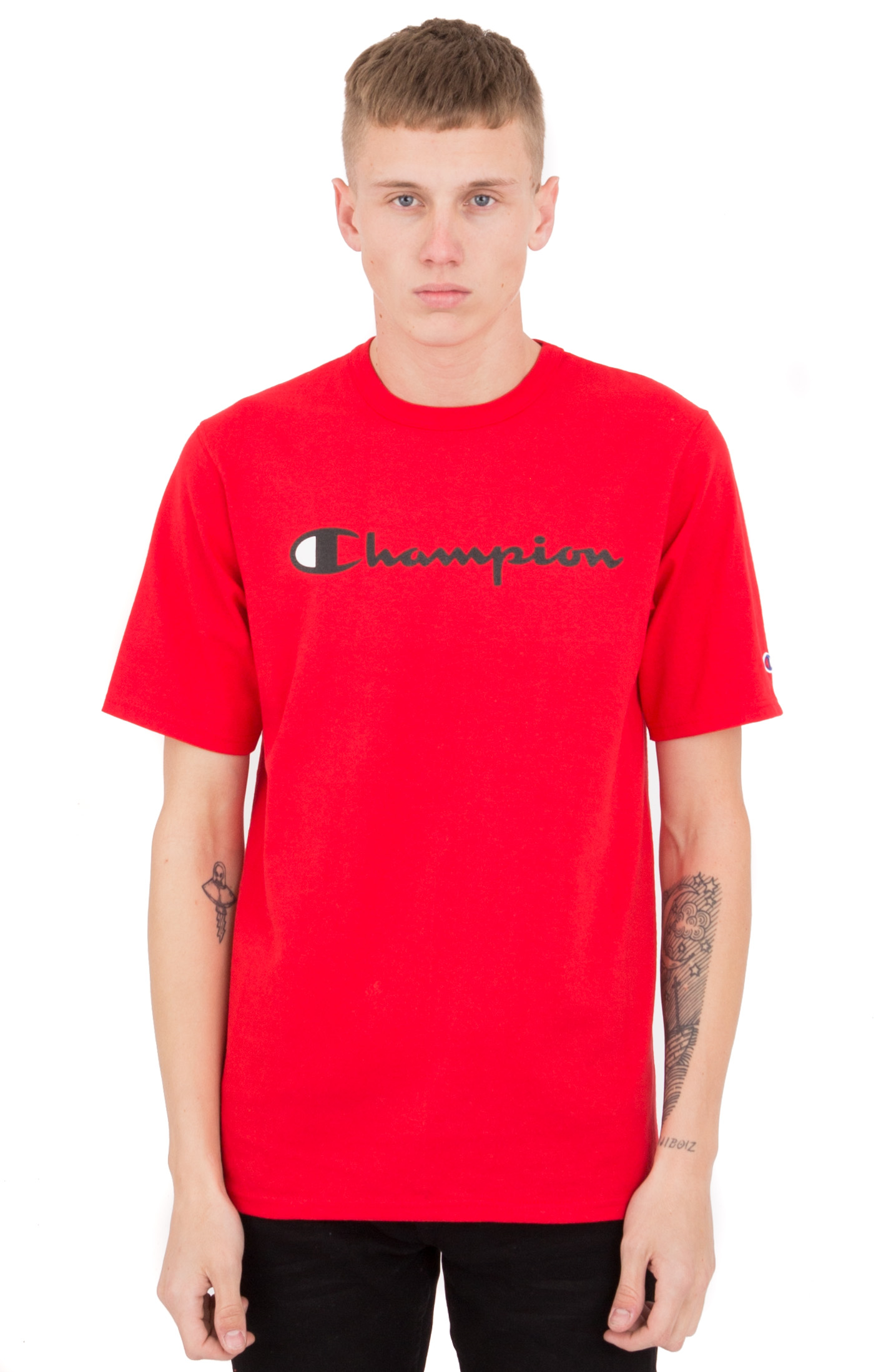 Heritage Script T-Shirt - Team Red Scarlet/Black