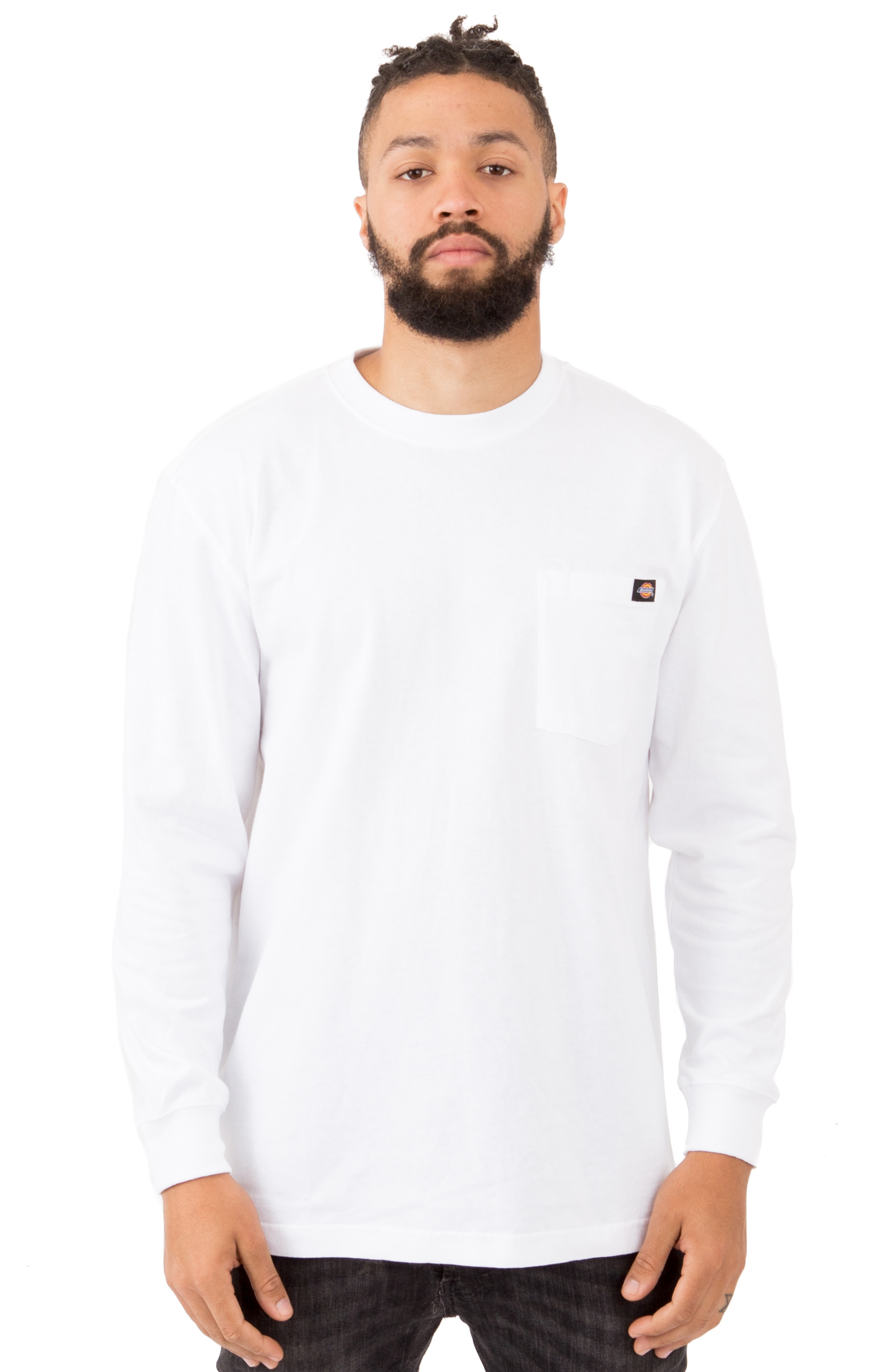(WL450WH) Long Sleeve Heavyweight Crew Neck Shirt - White