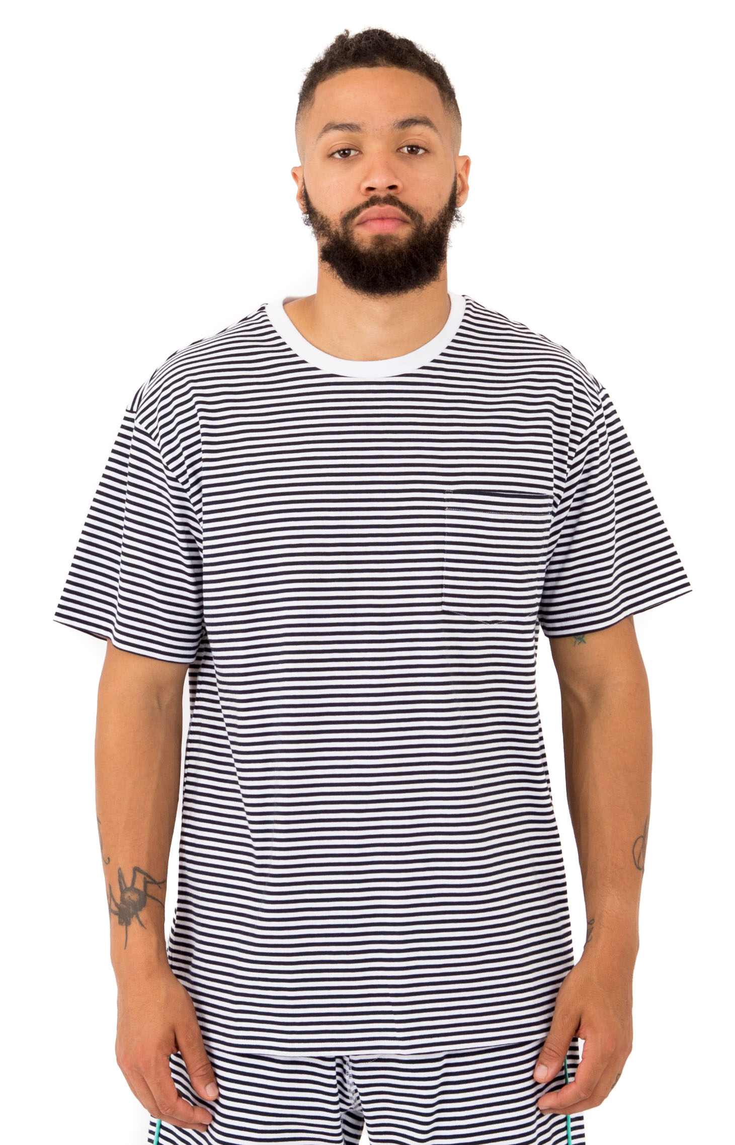 Cast Away Pocket T-Shirt - WhiteNavy